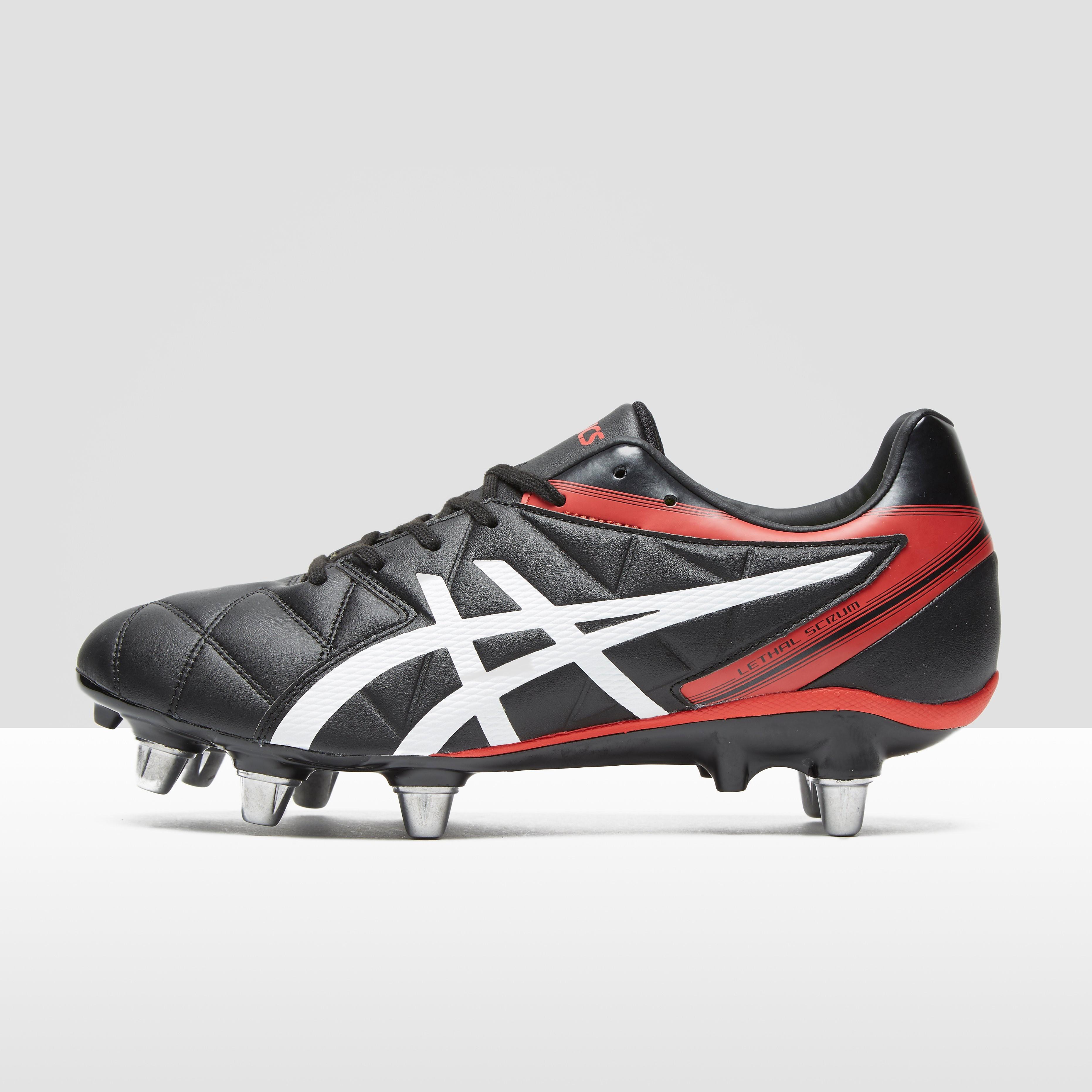 Mens Black ASICS Gel-Lethal Scrum Rugby Boots, Black