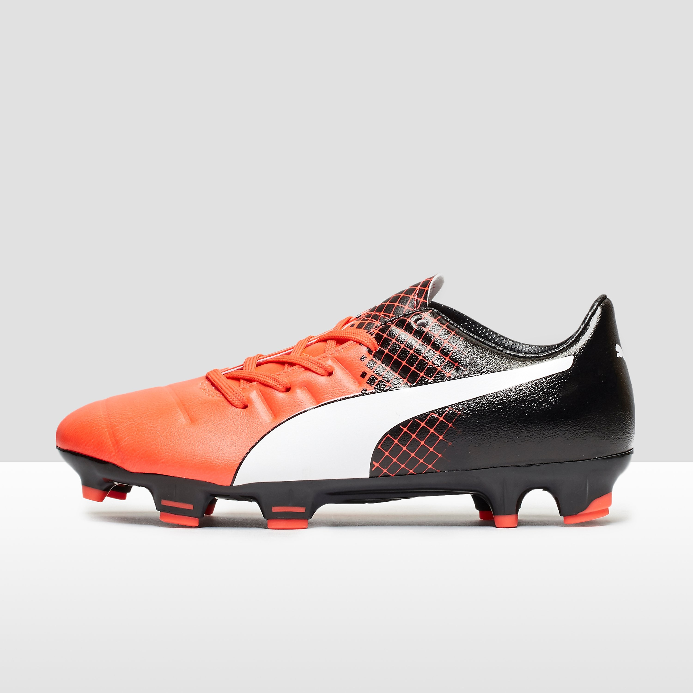 PUMA evoPOWER 3.3 Tricks Junior Firm Ground Football Boots