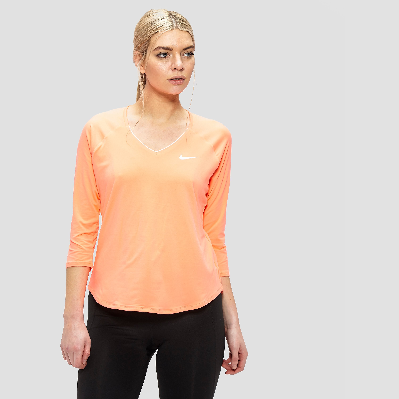 Nike women's Pure 3/4 Sleeve Top