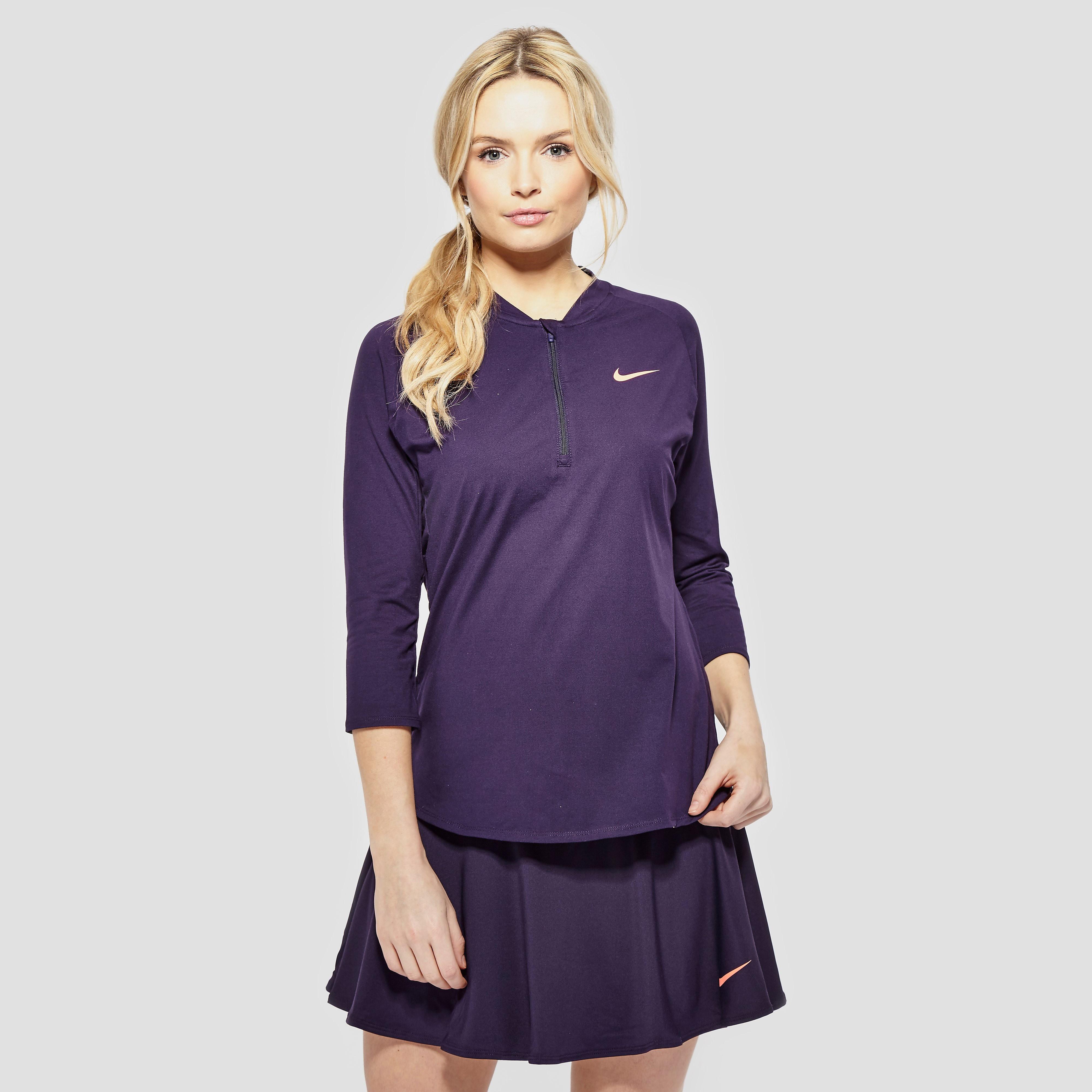 Nike Court Dry Women's 3/4 Sleeve Half-Zip Tennis Top
