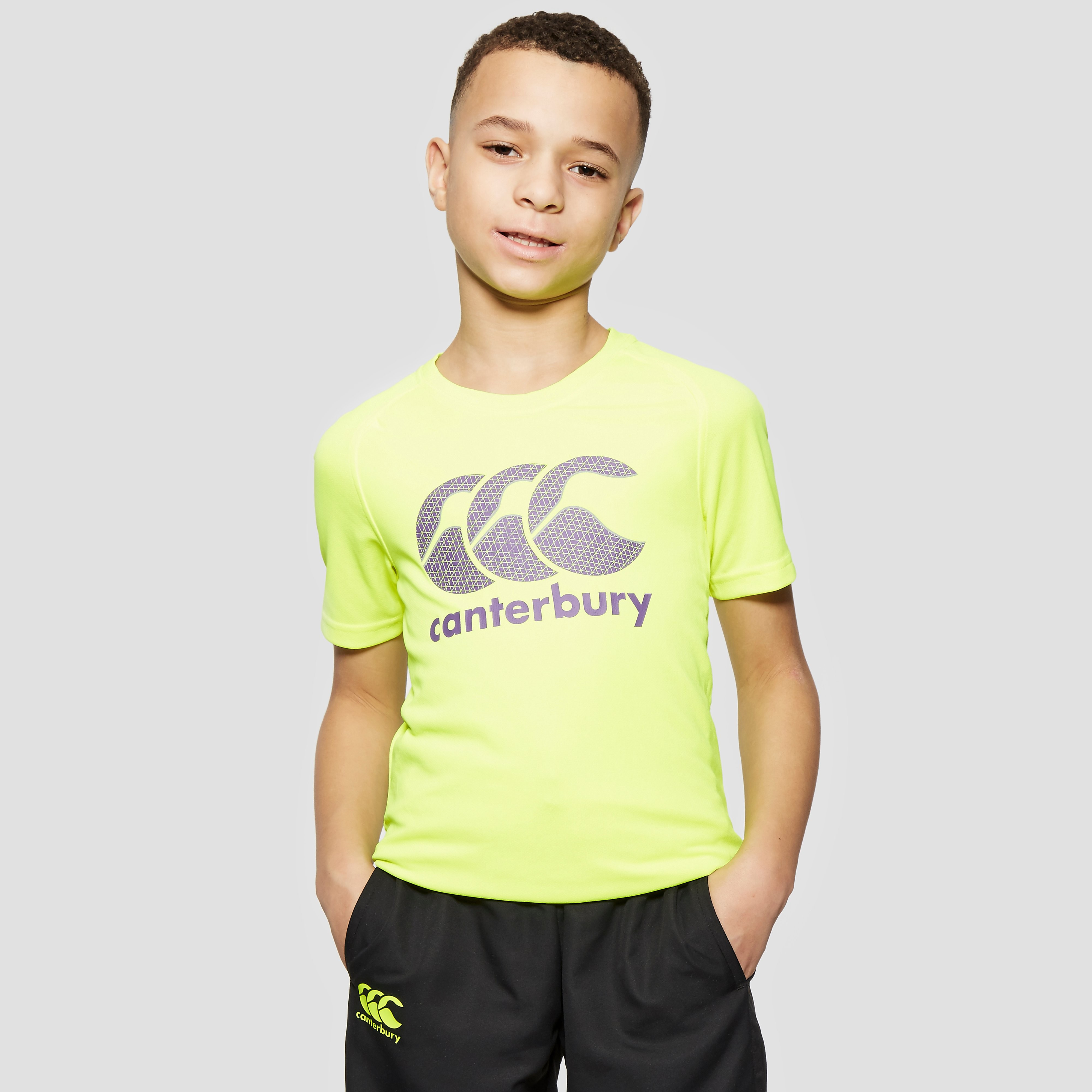 Canterbury Vapodri Poly Logo Junior Boy's Tee