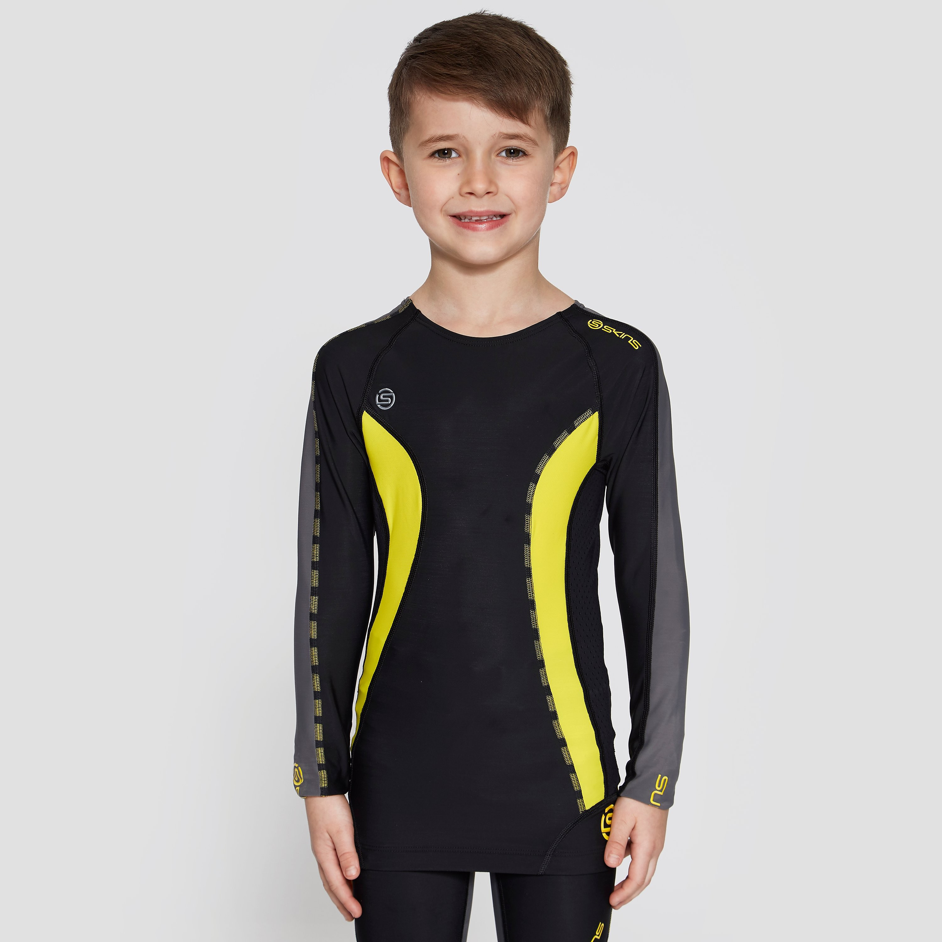 Skins JUNIOR LONG SLEEVE COMPRESSION TOP