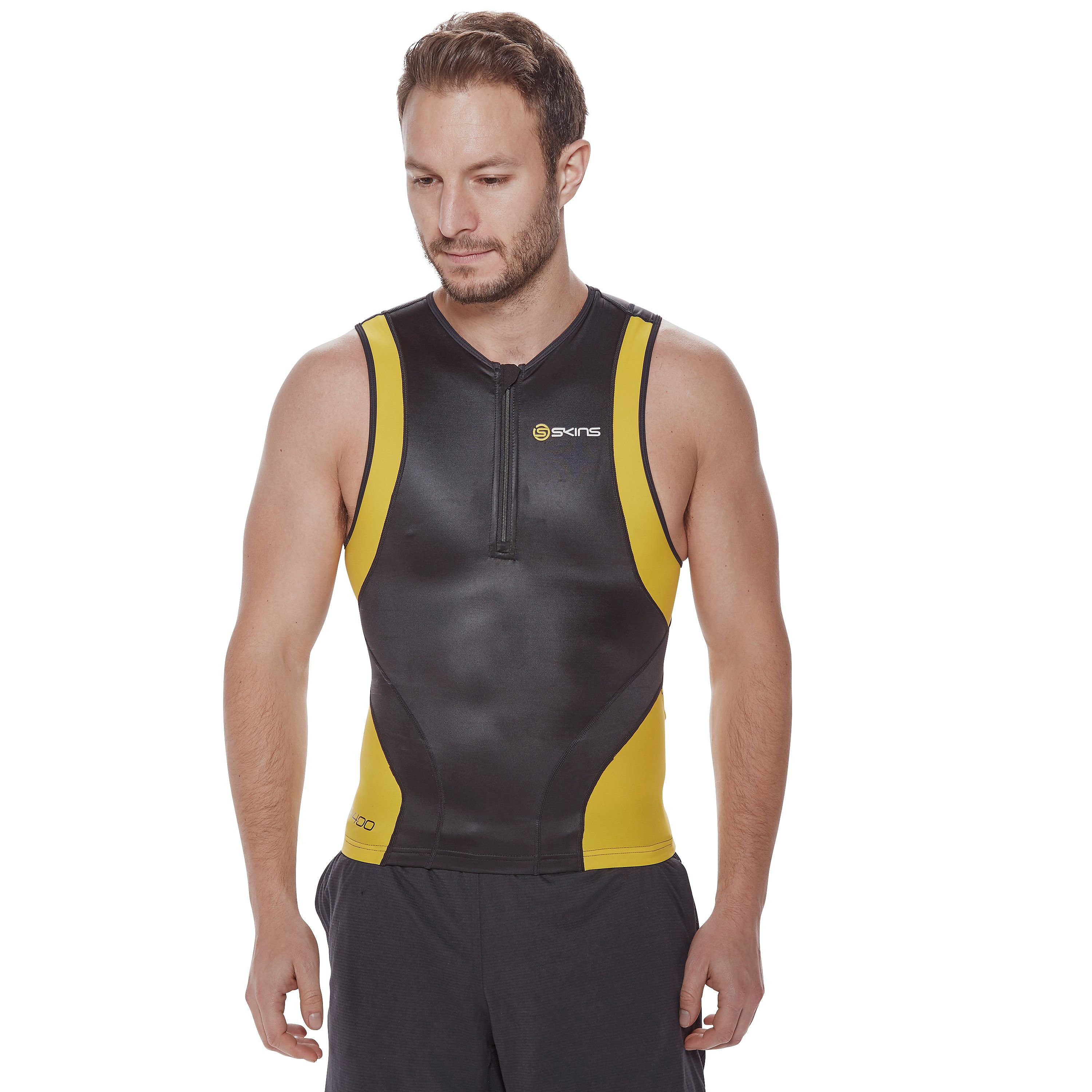 Skins Tri400 Sleeveless Men's Triathlon Top