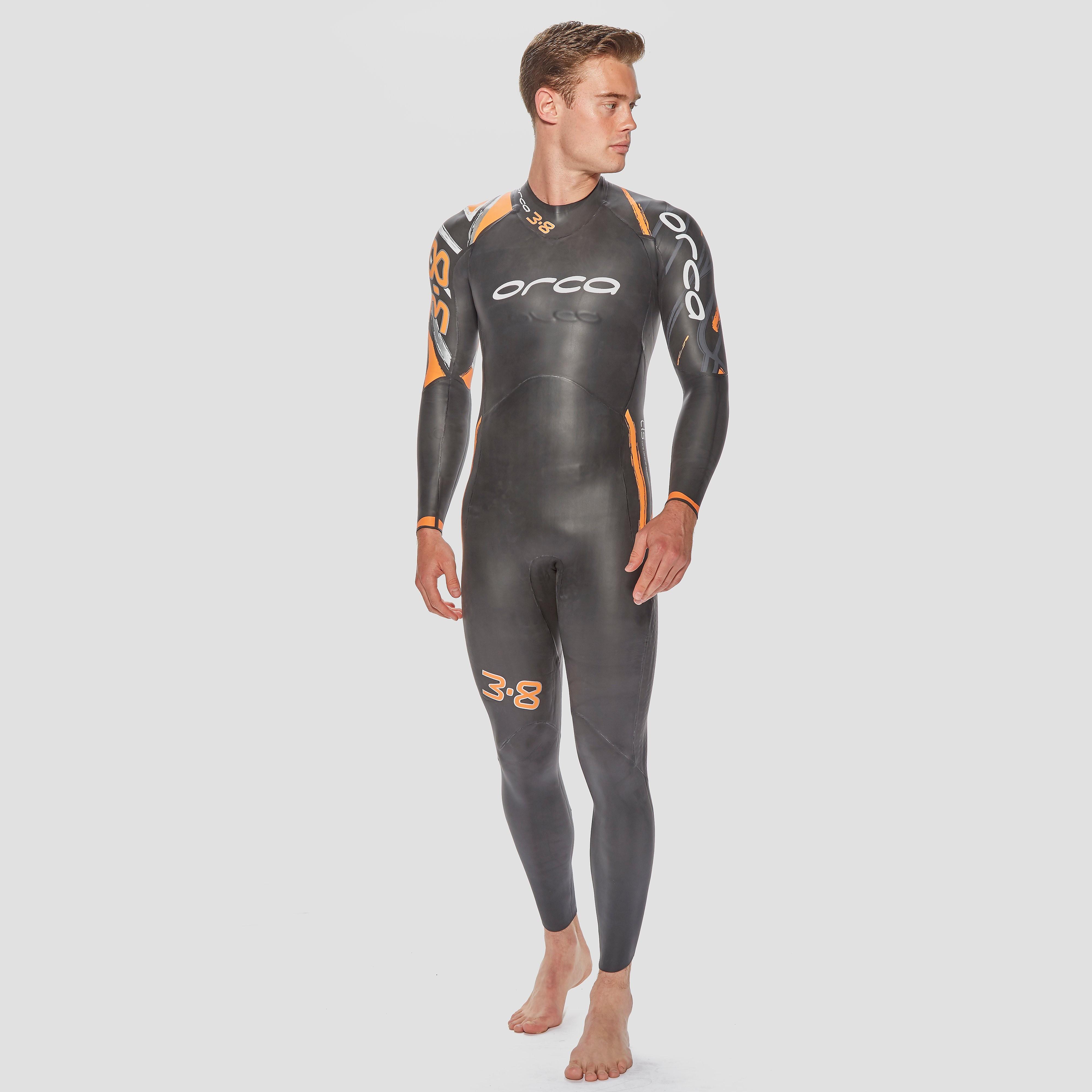 Mens Black Orca 3.8 Triathlon Wetsuit