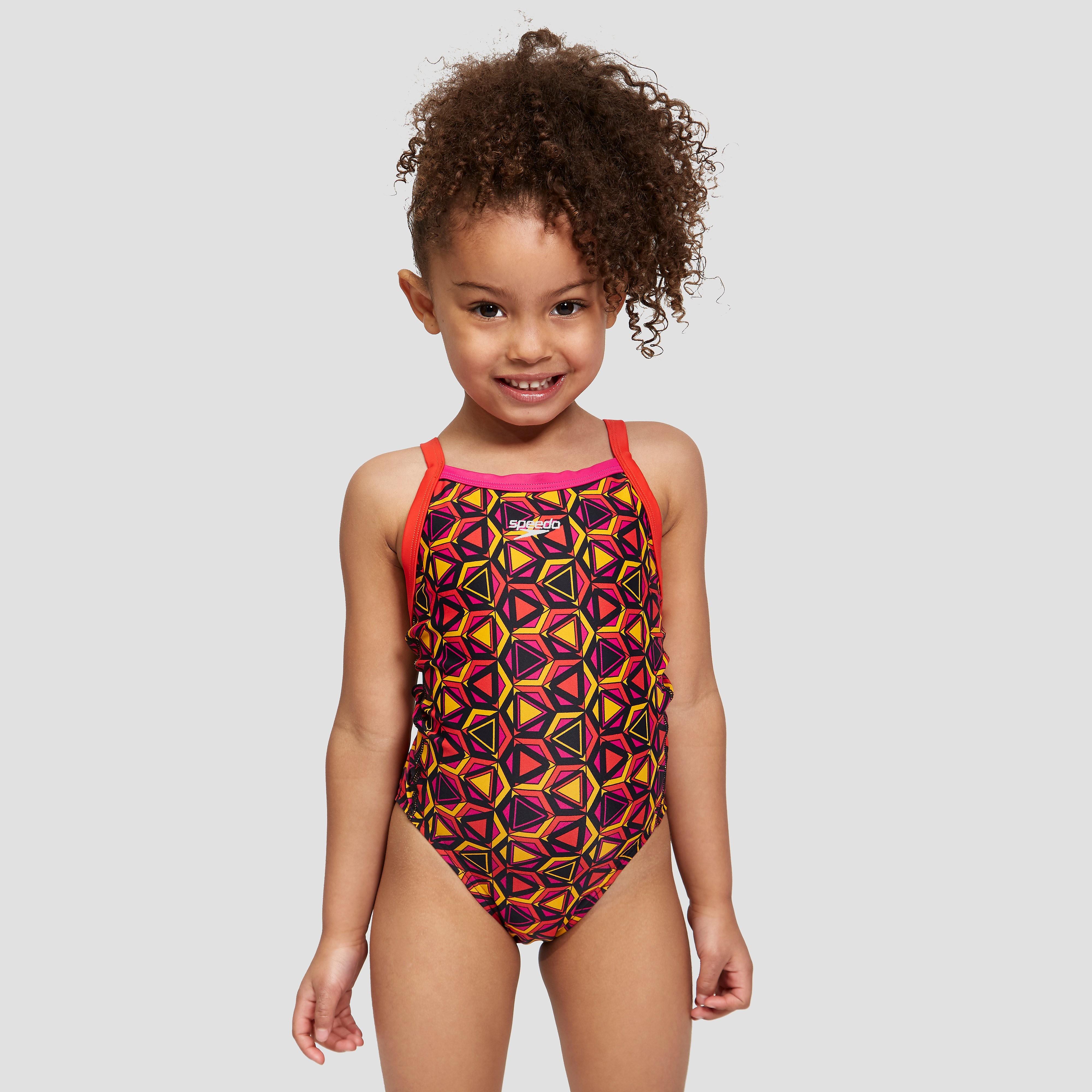 Speedo Pattern Pop Allover Thinstrap Crossback Junior Swimsuit