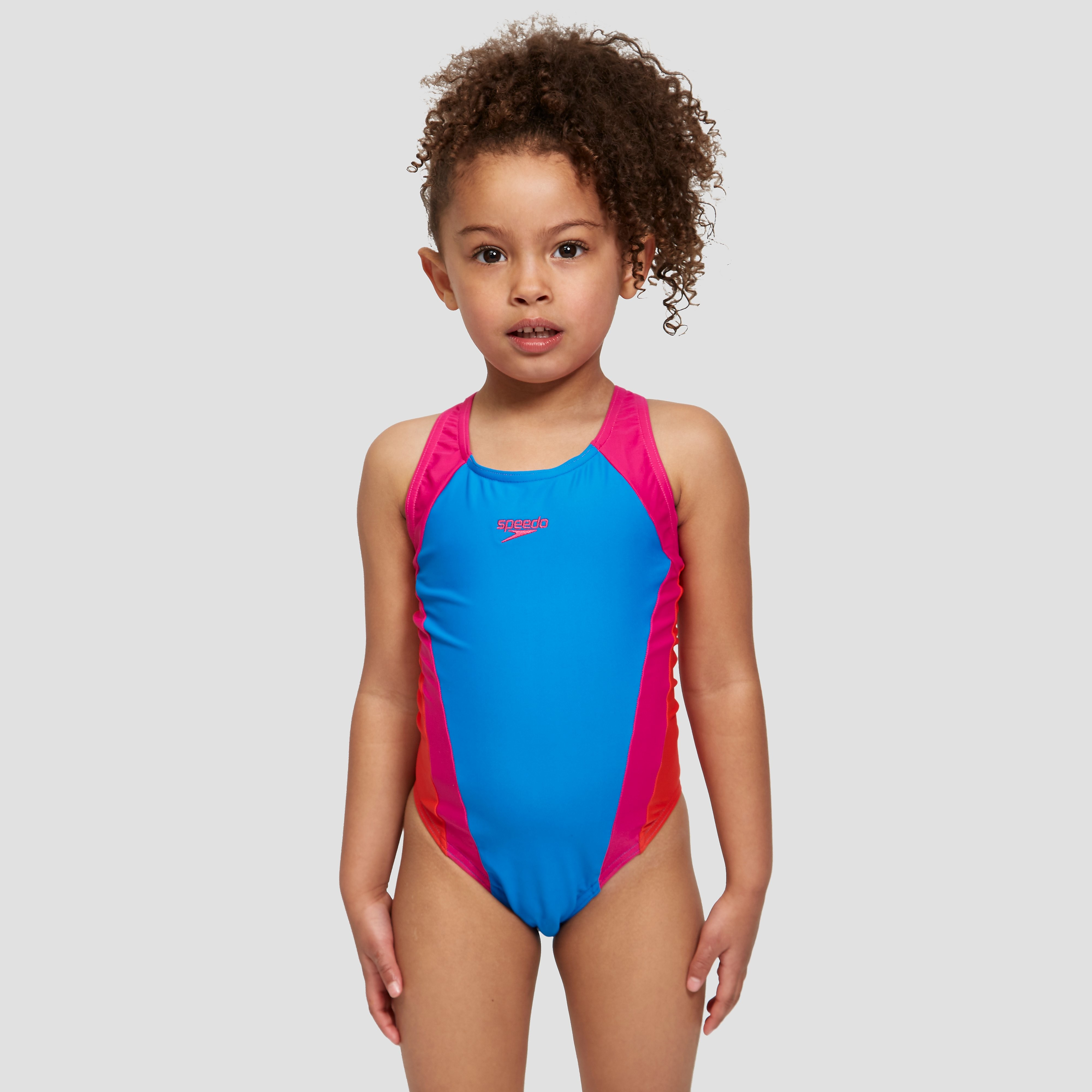 Speedo Contrast Allover Splashback Junior Swimsuit