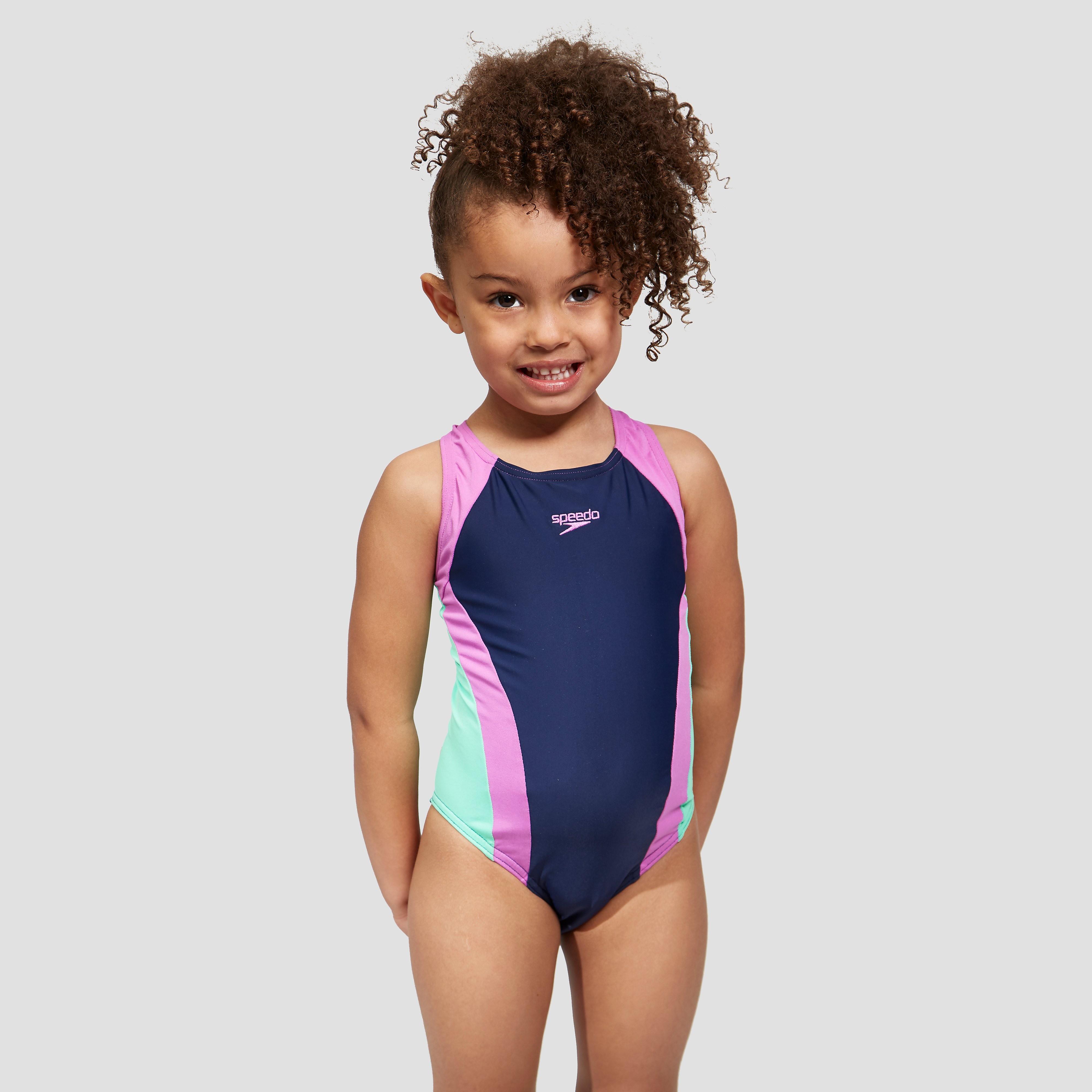 Speedo Contrast Allover Splashback Junior Swimsuit