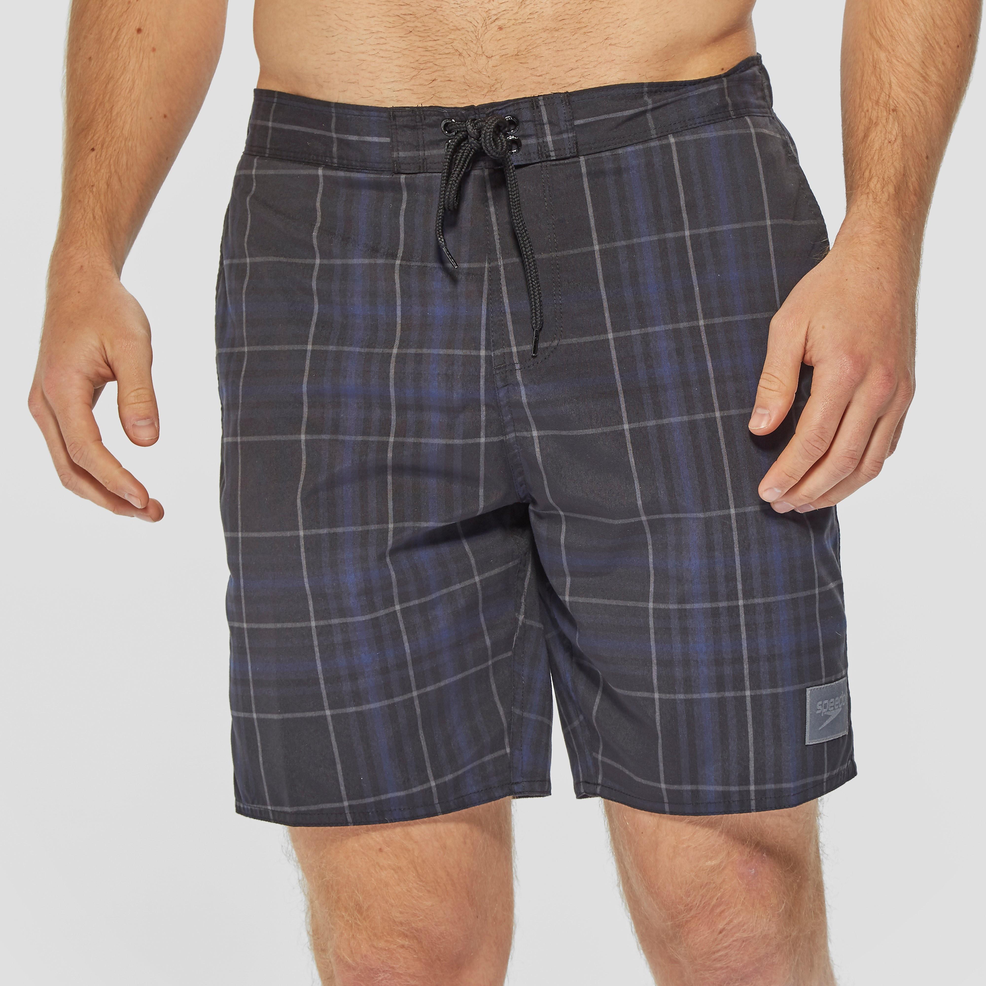 """Speedo Check Men's Leisure 18"""" Swim Shorts"""