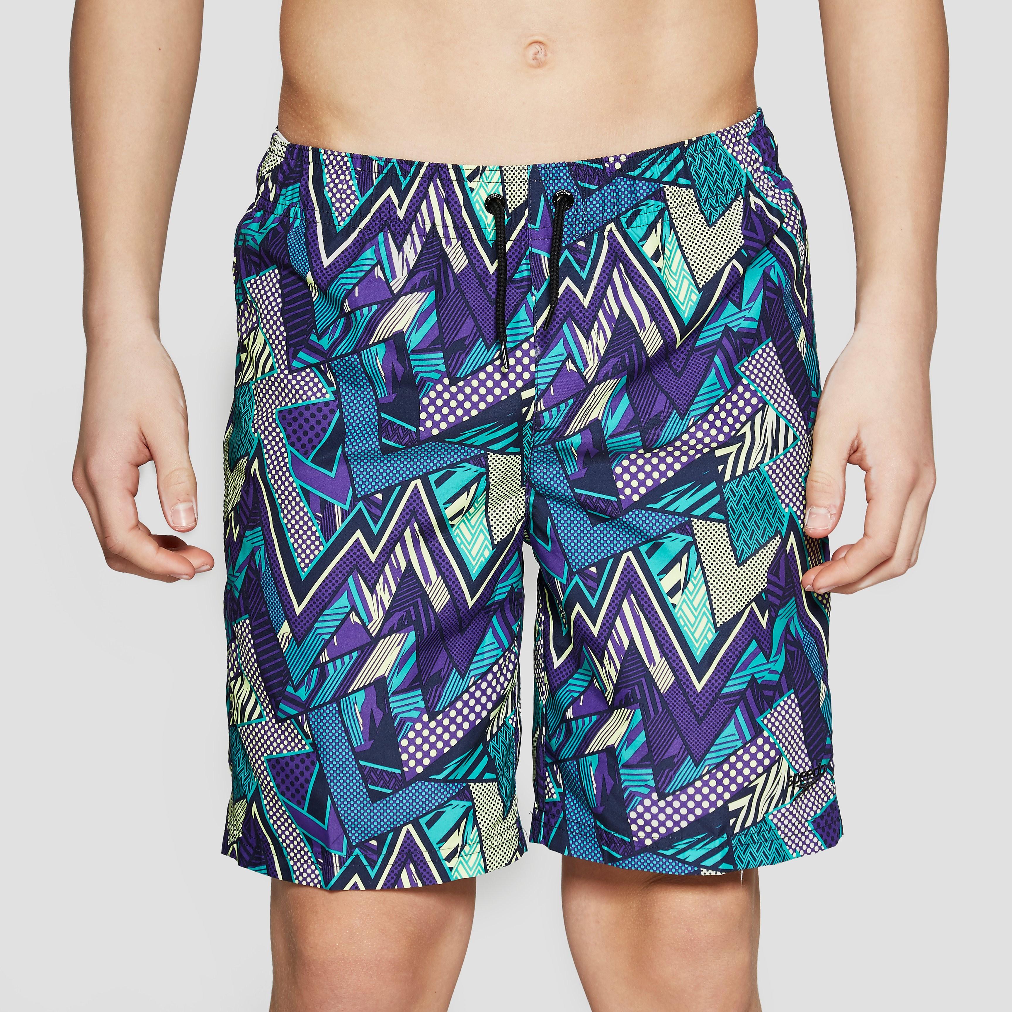 Speedo Electro Camo Print Junior Swimming Shorts