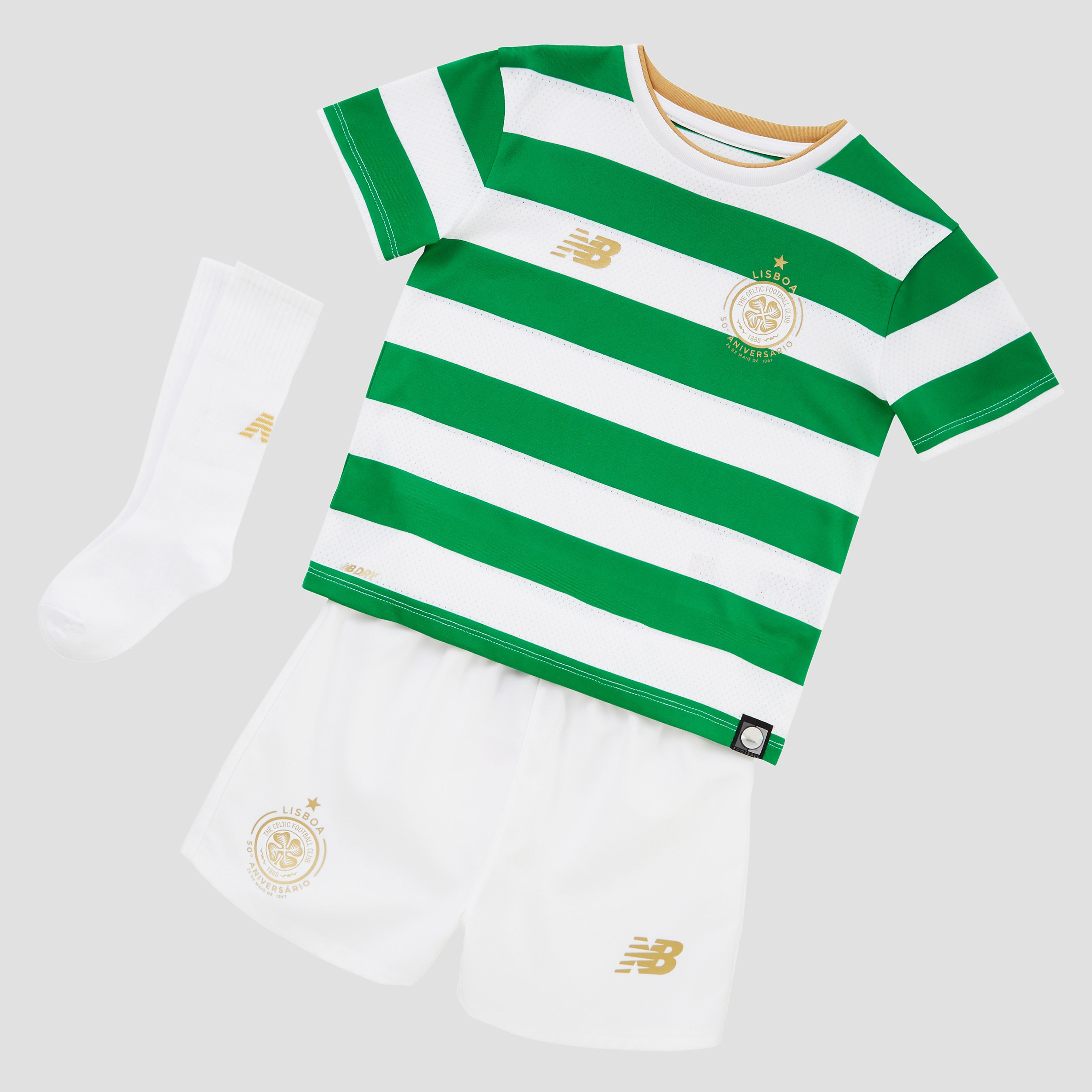 New Balance Celtic FC 2017/18 Children 's Home Kit
