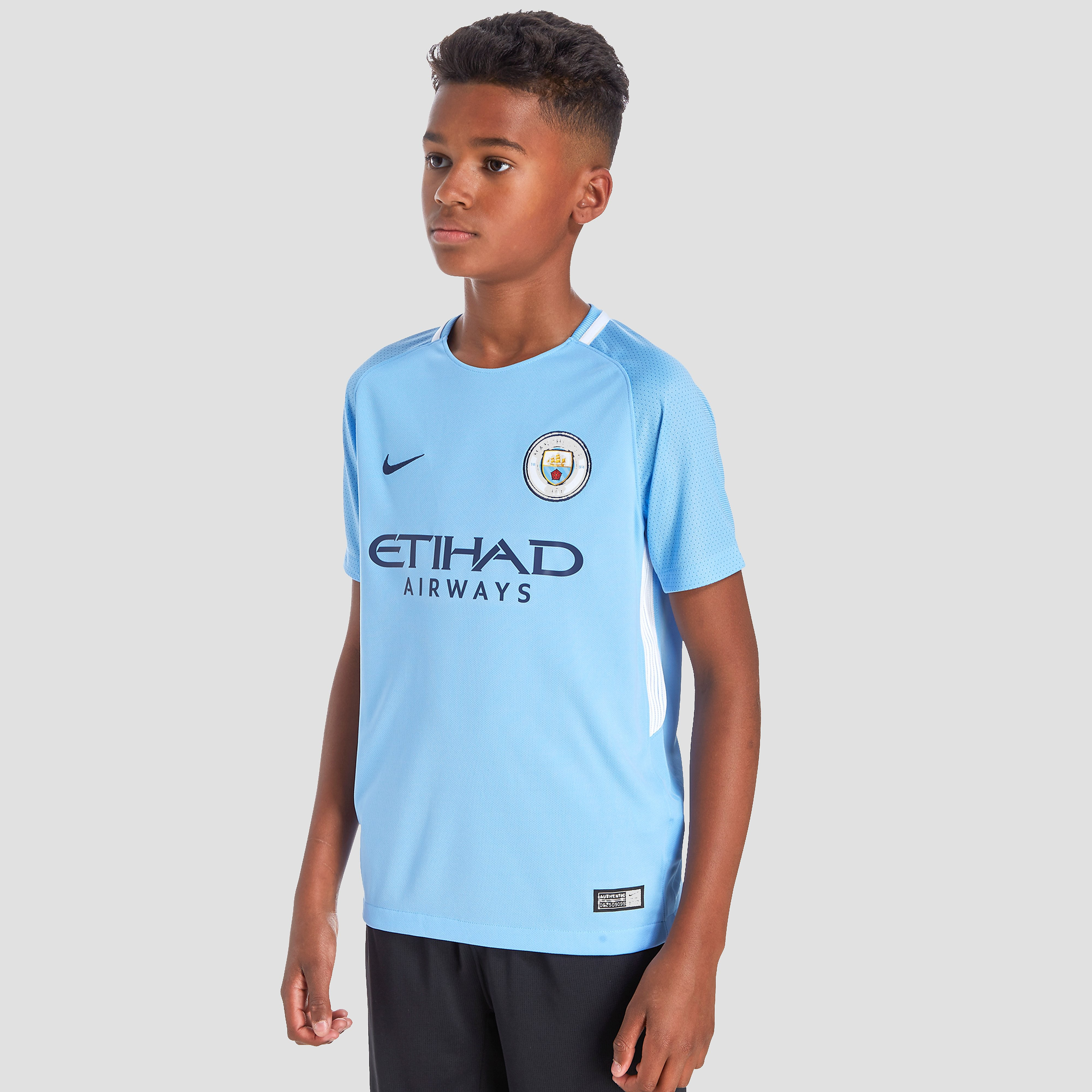 Nike Manchester City FC 2017 Junior Home Shirt