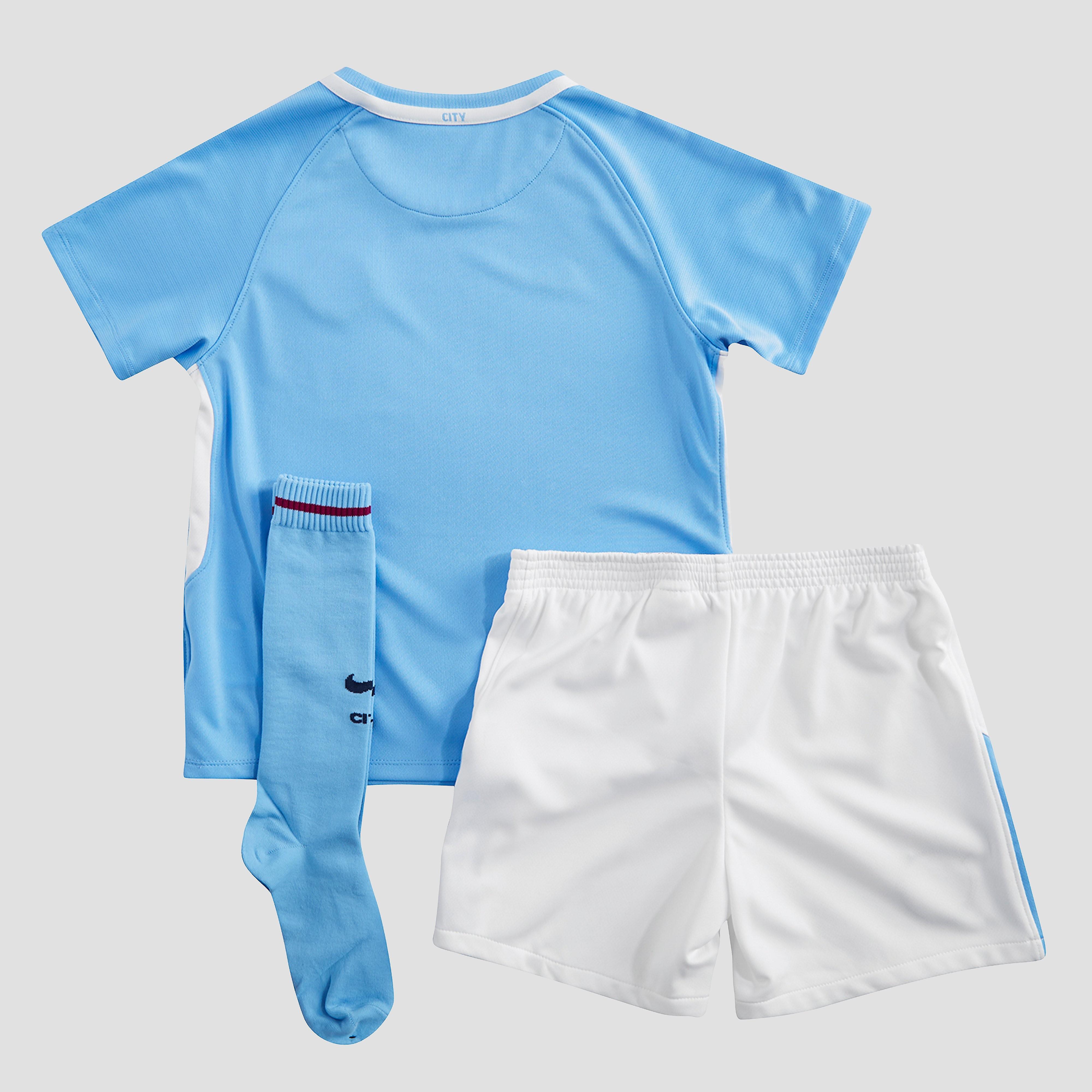 Nike Manchester City FC 2017/18 Children's Home Kit