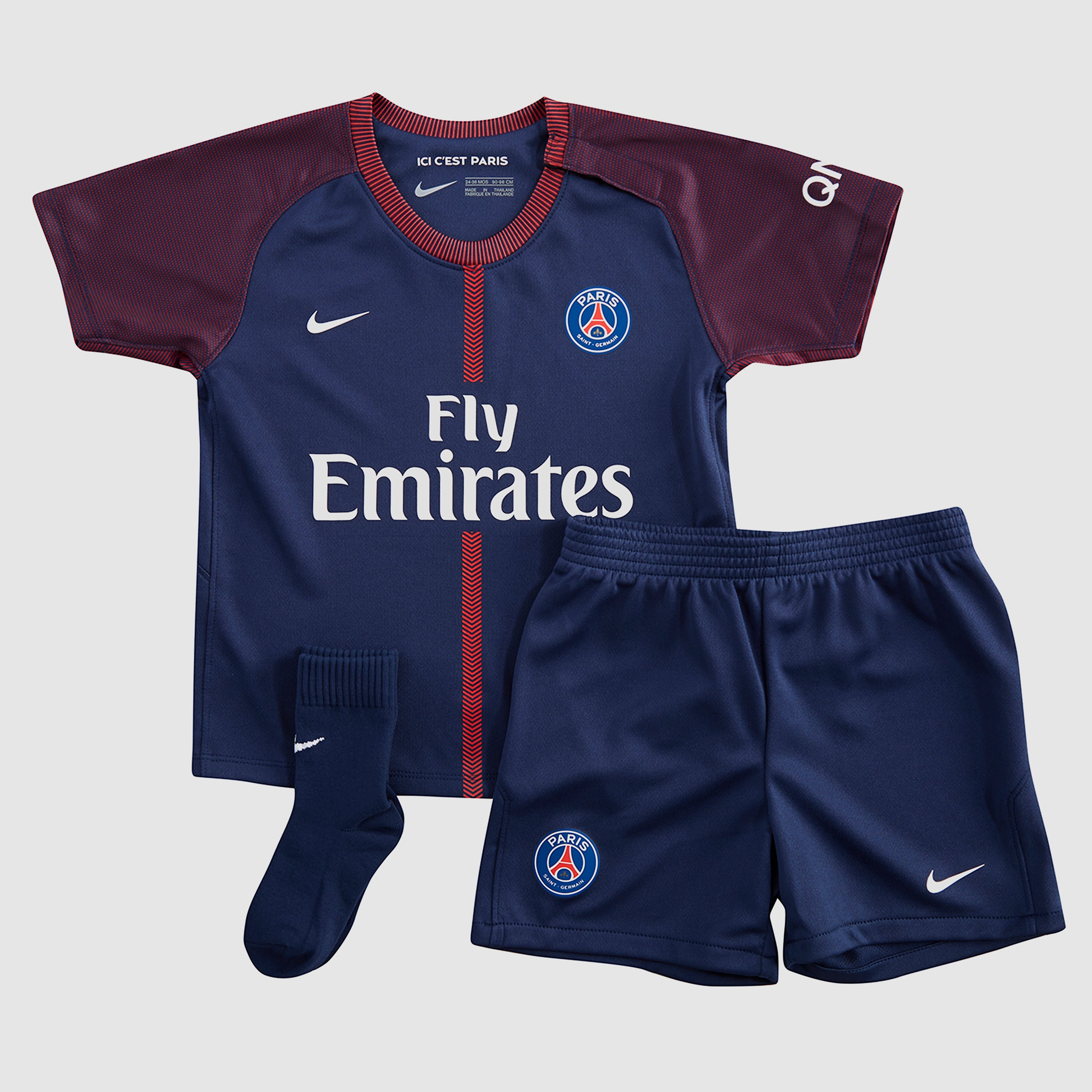Nike Paris Saint Germain 2017/18 Infants' Home Kit