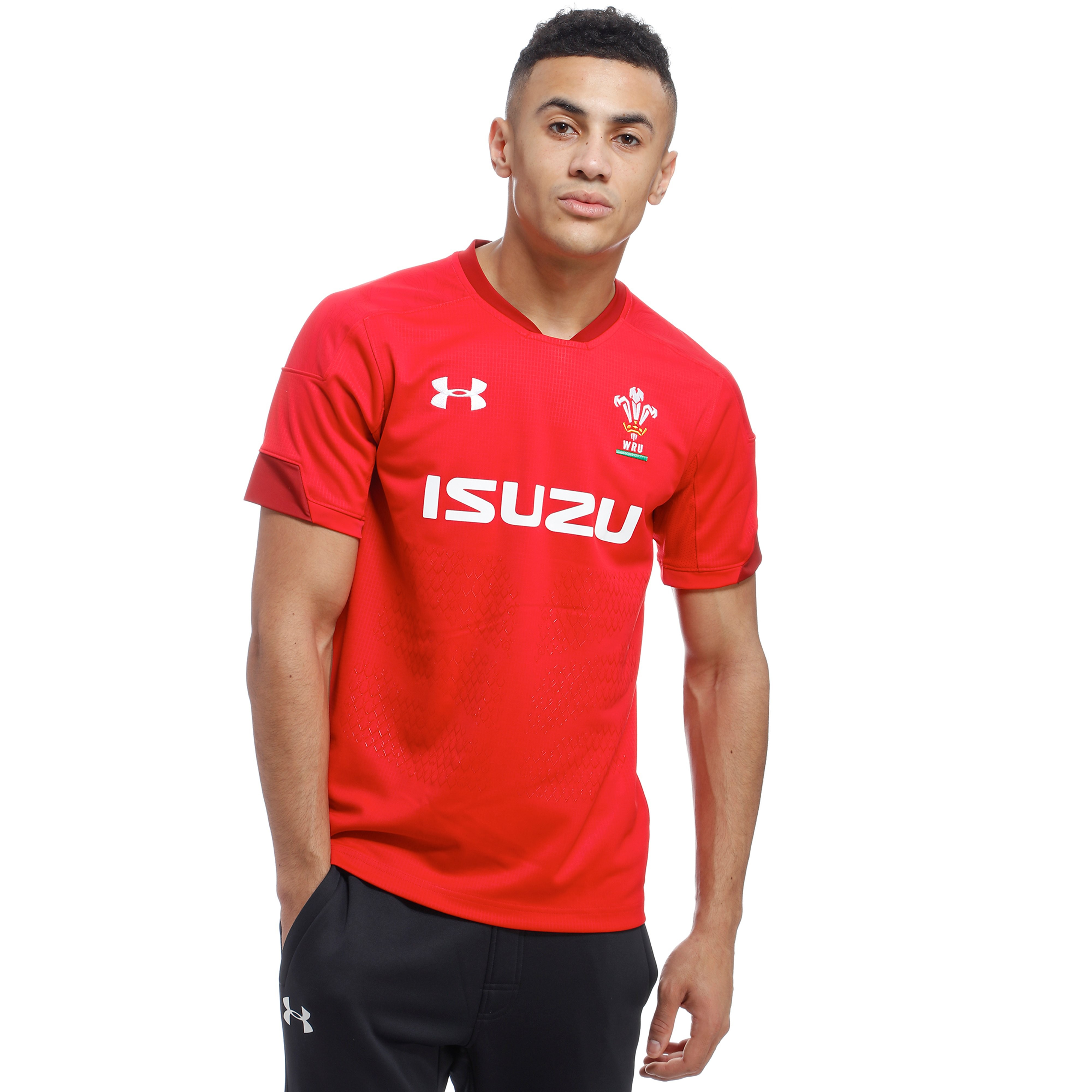 Mens Red Under Armour Wales RU 2017/18 Home Shirt