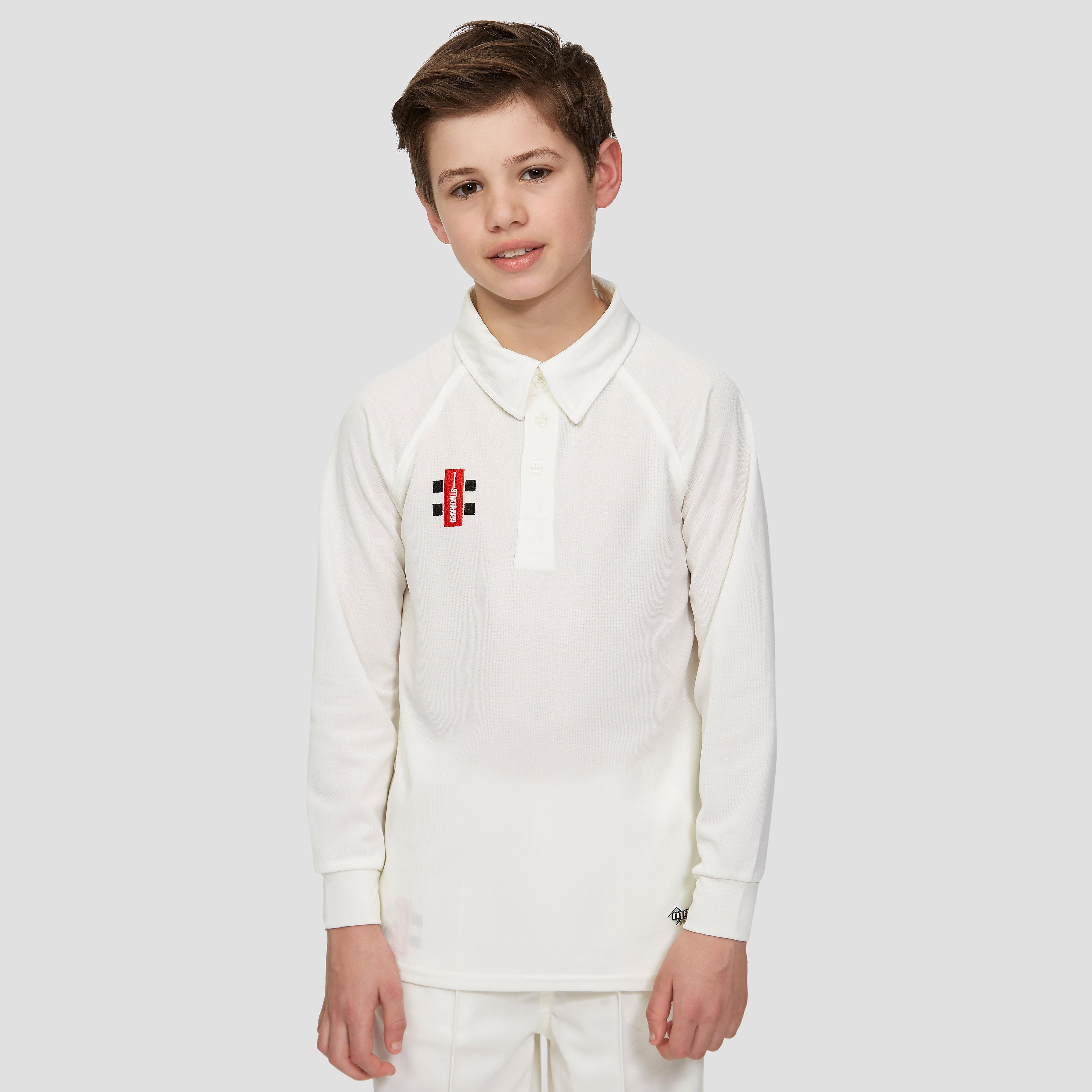 Gray Nicolls Matrix Long Sleeve Junior Cricket Shirt