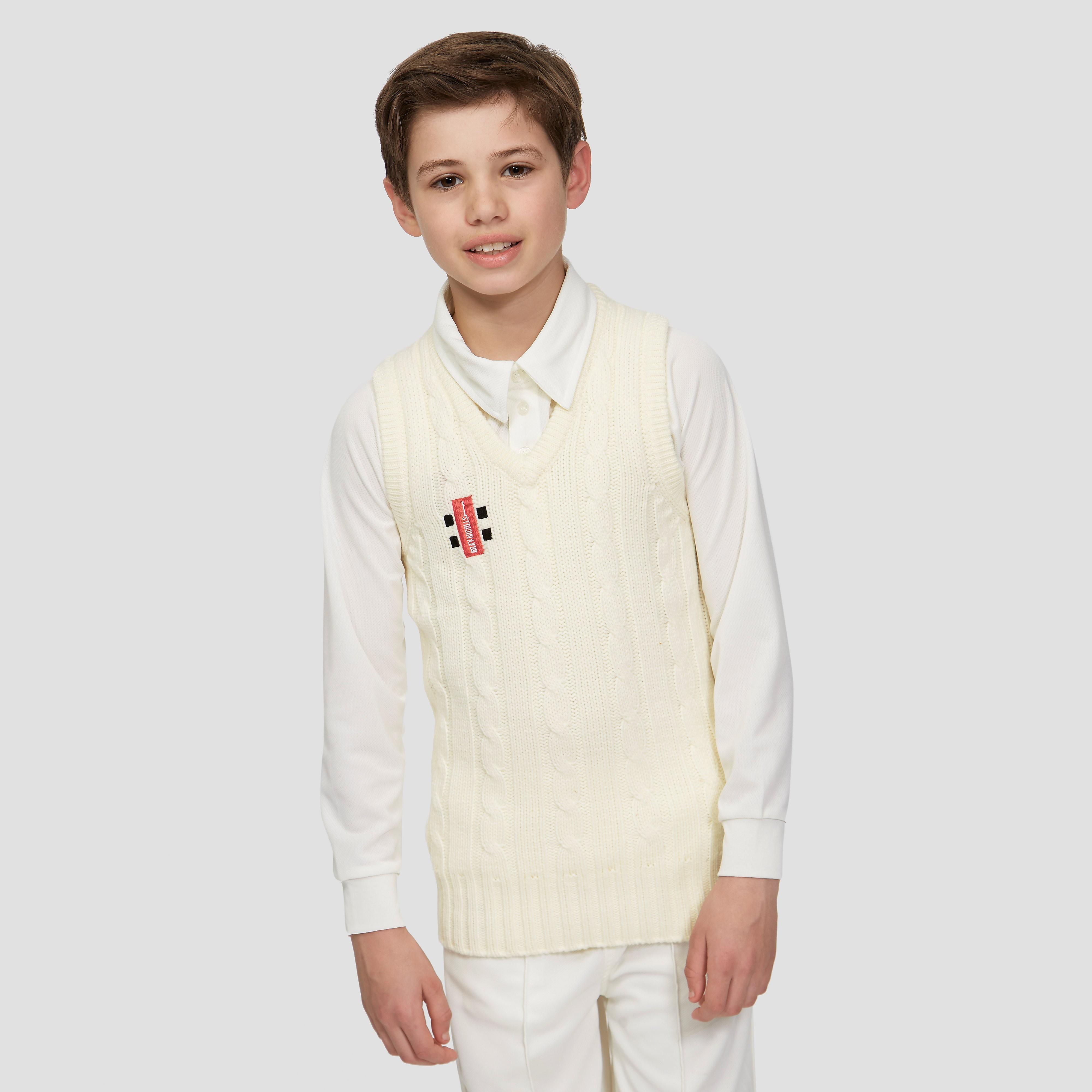 Gray-Nicolls Knitted Acrylic Junior Sleeveless Cricket Jumper