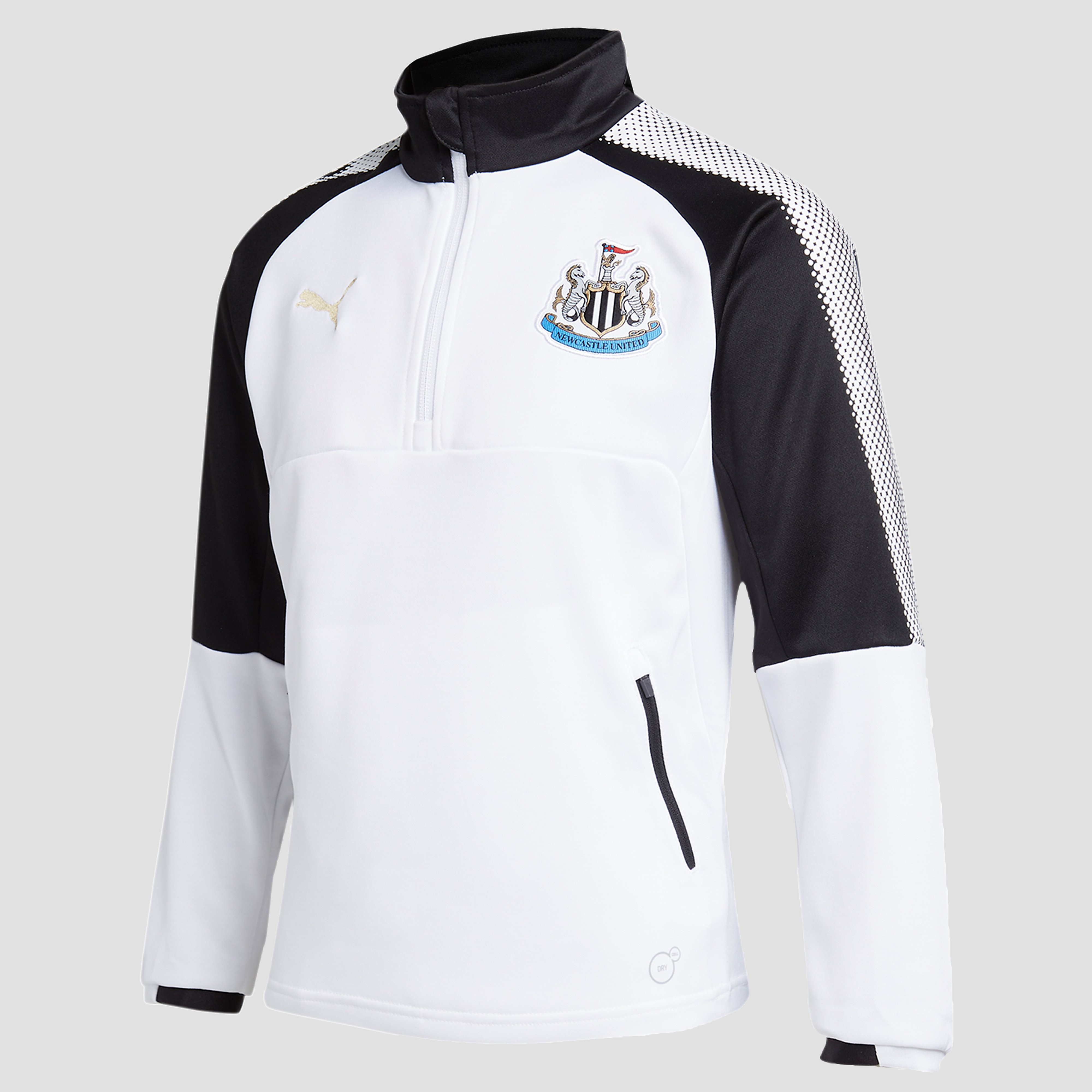 PUMA Newcastle United 2017 Quarter Zip Training Top Jnr