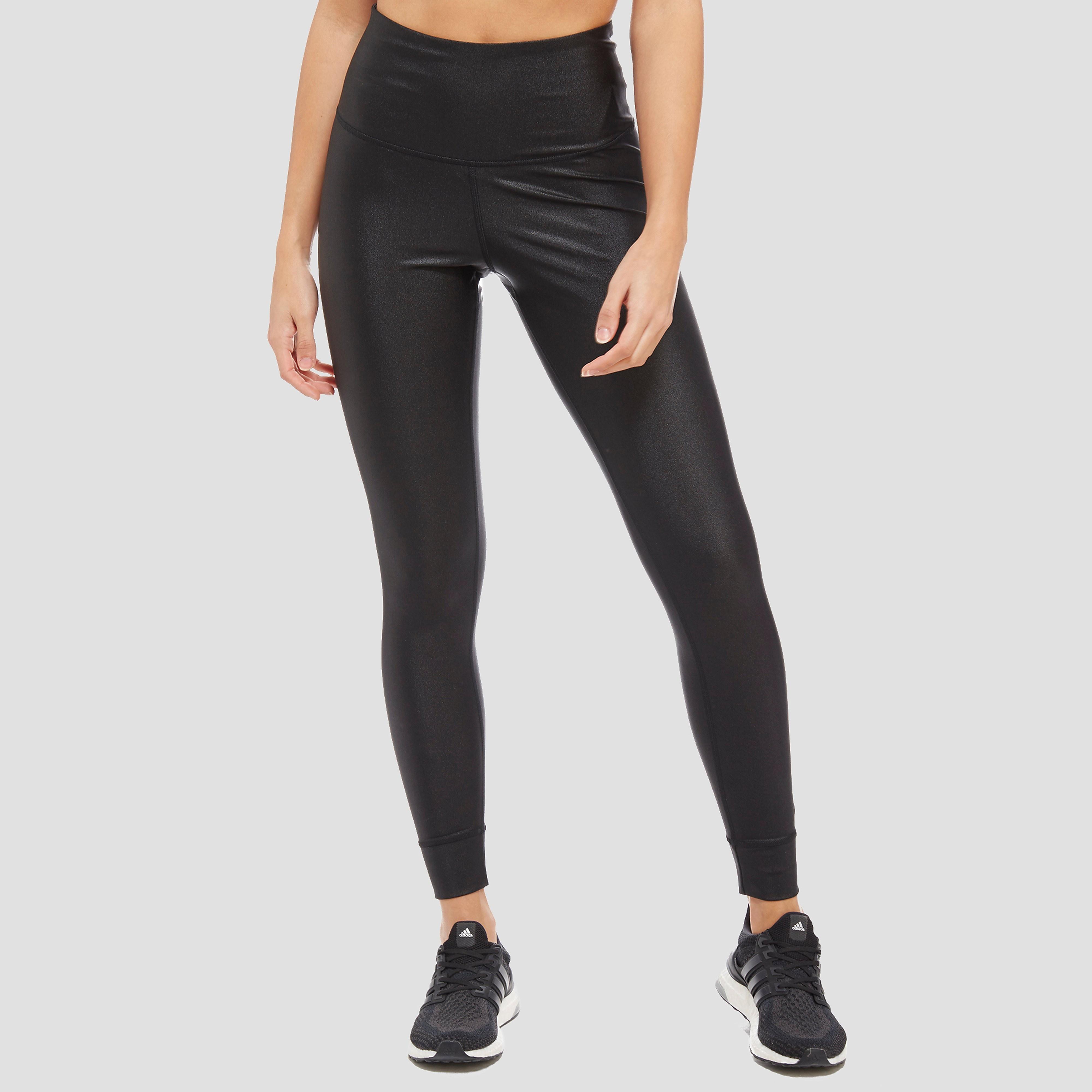 Women's Reebok  METALLIC HIGH RISE LEGGINGS - Black, Black