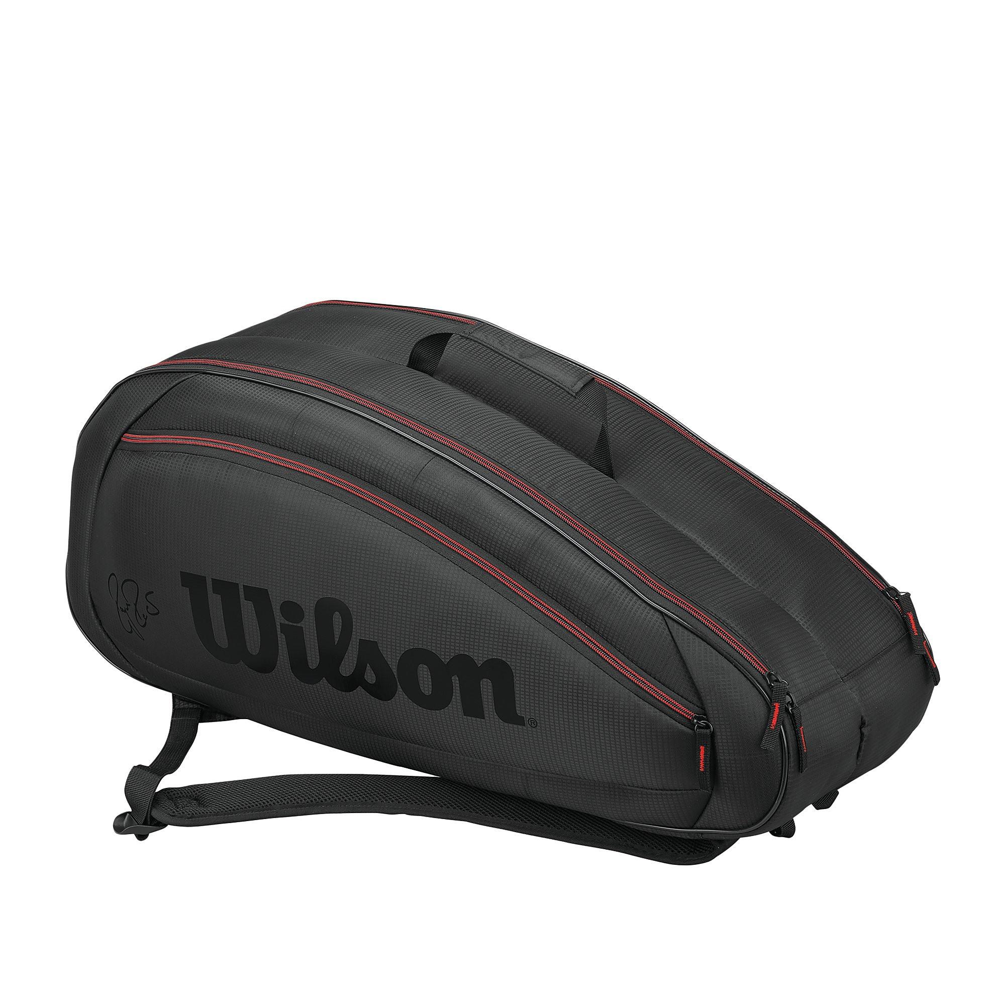 Men's Wilson Federer Team DNA 6 Pack Tennis Racket Bag - Grey, Grey