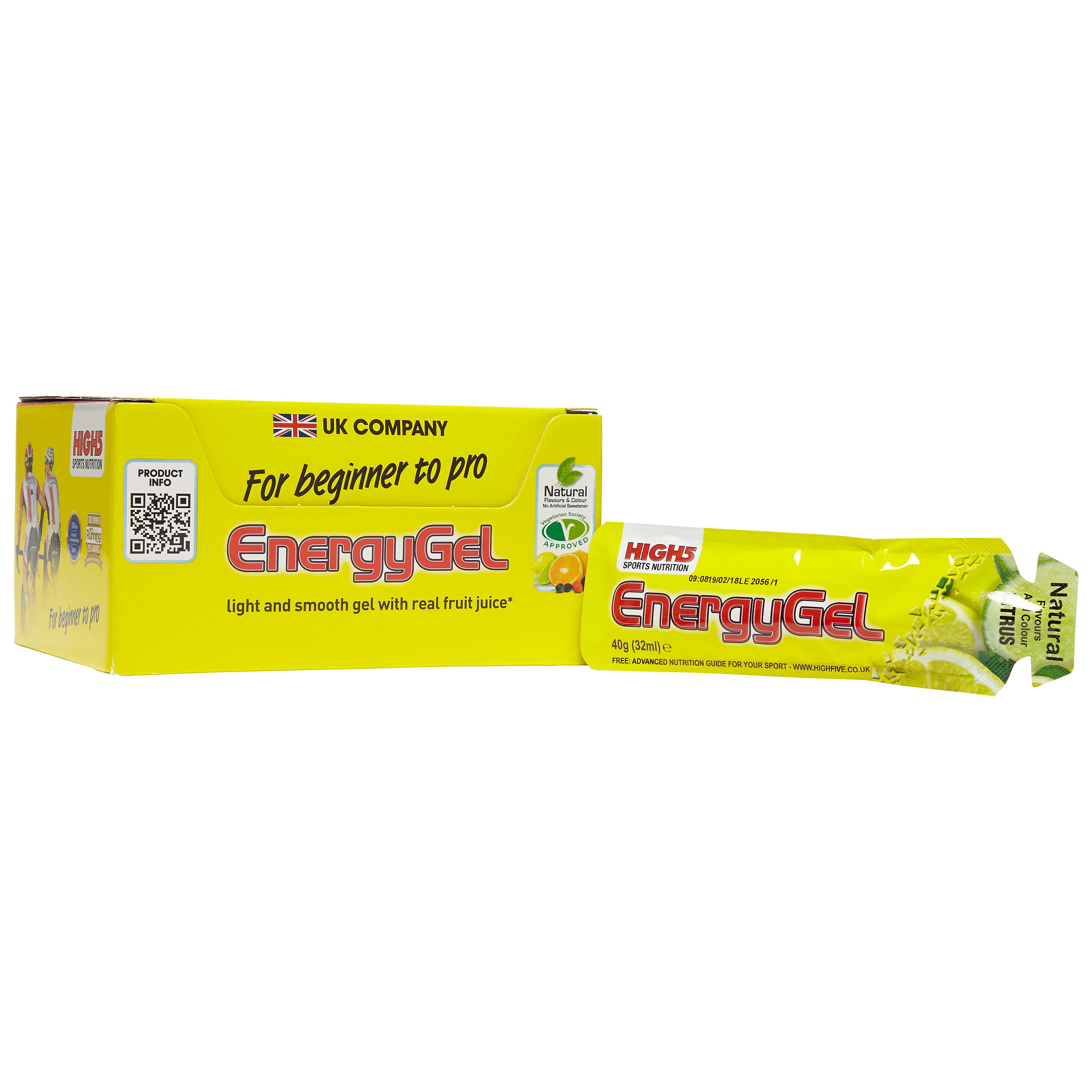 High 5 Energy Gel (20 Pack)- Citrus Blast