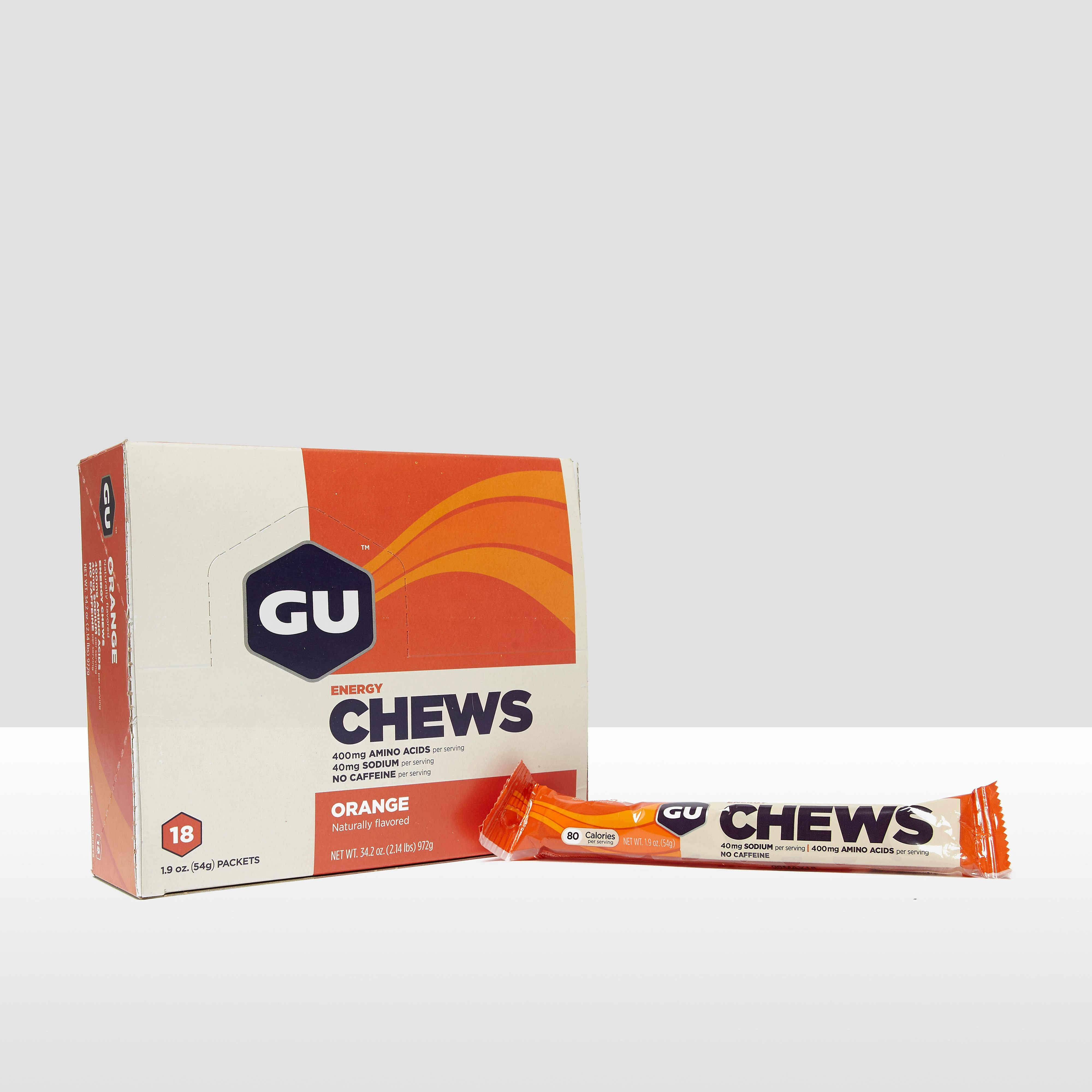 GU Energy Chews (18 Pack) - Orange
