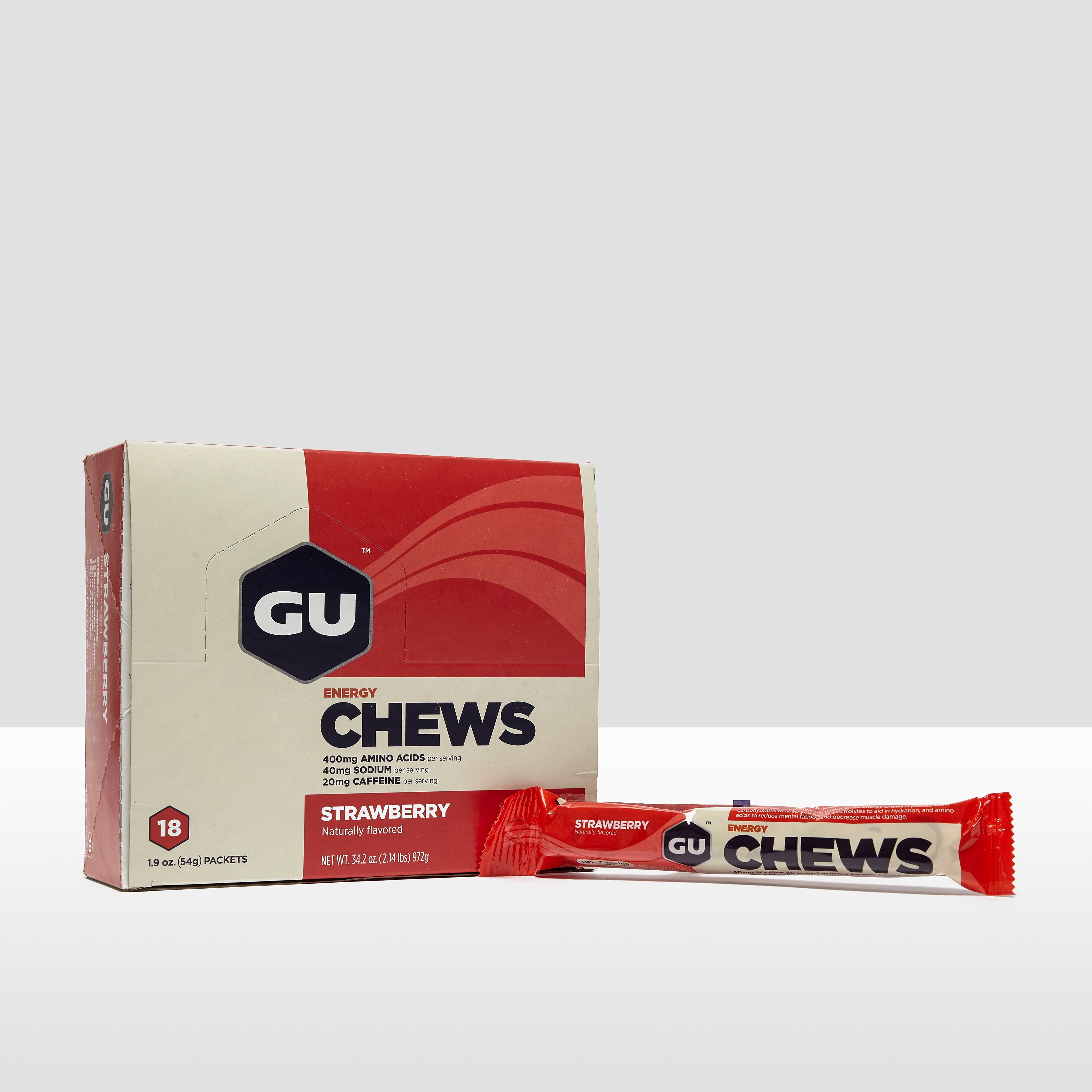 GU Energy Chews (18 Pack) - Strawberry