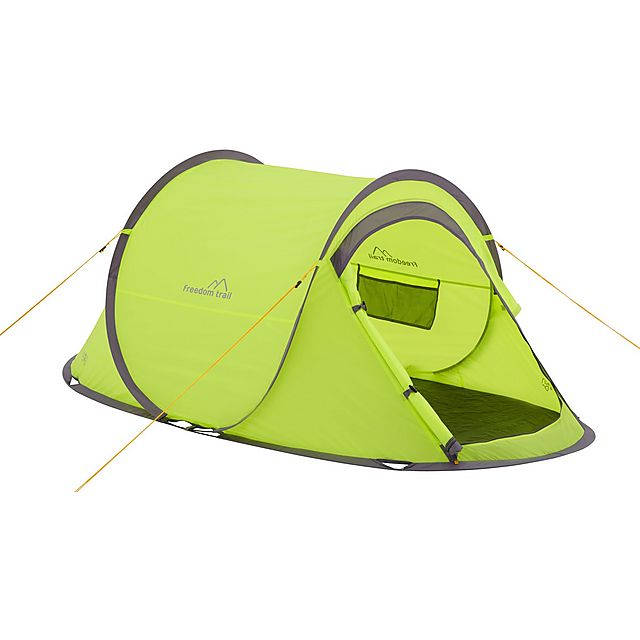 FREEDOMTRAIL Pitch and Go Pop-Up Tent, LIME