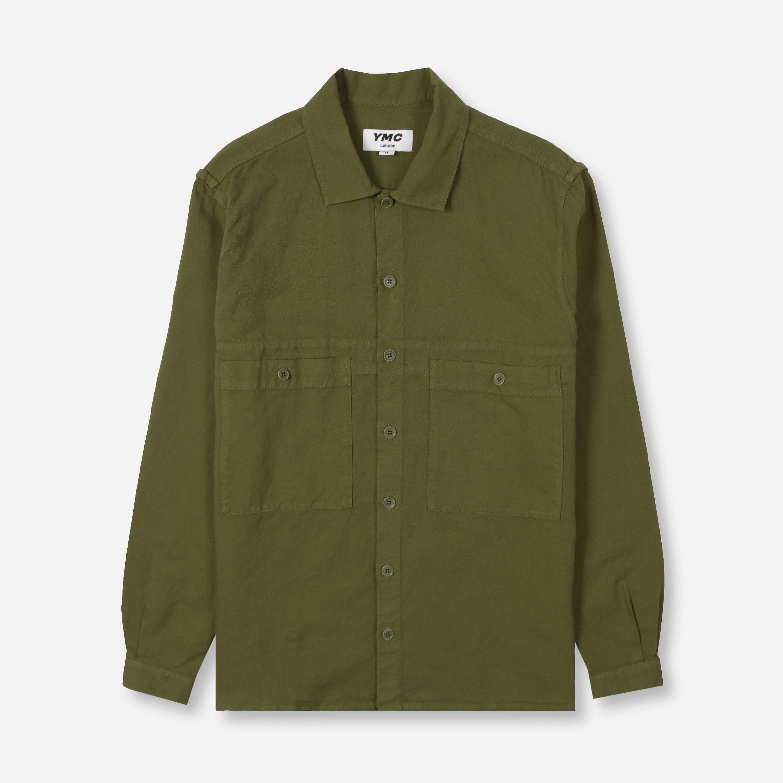 ymc doc savage shirt, green/olive