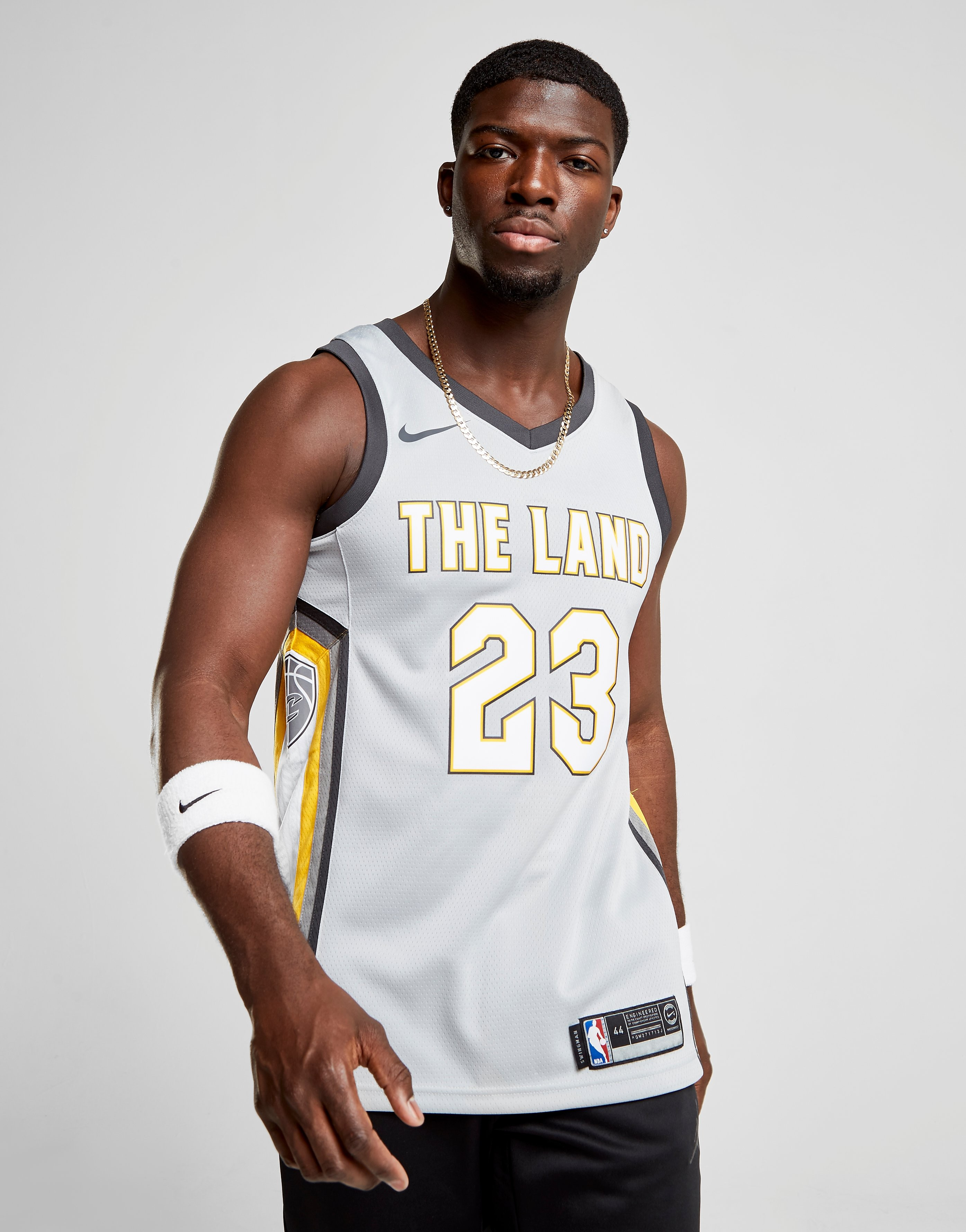 Nike Maillot NBA James Cleveland Cavaliers City - Silver/Yellow, Silver/Yellow