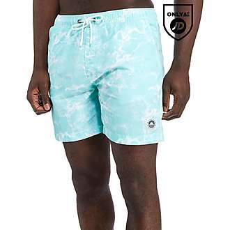 Outcast Acid Wash Swim Shorts