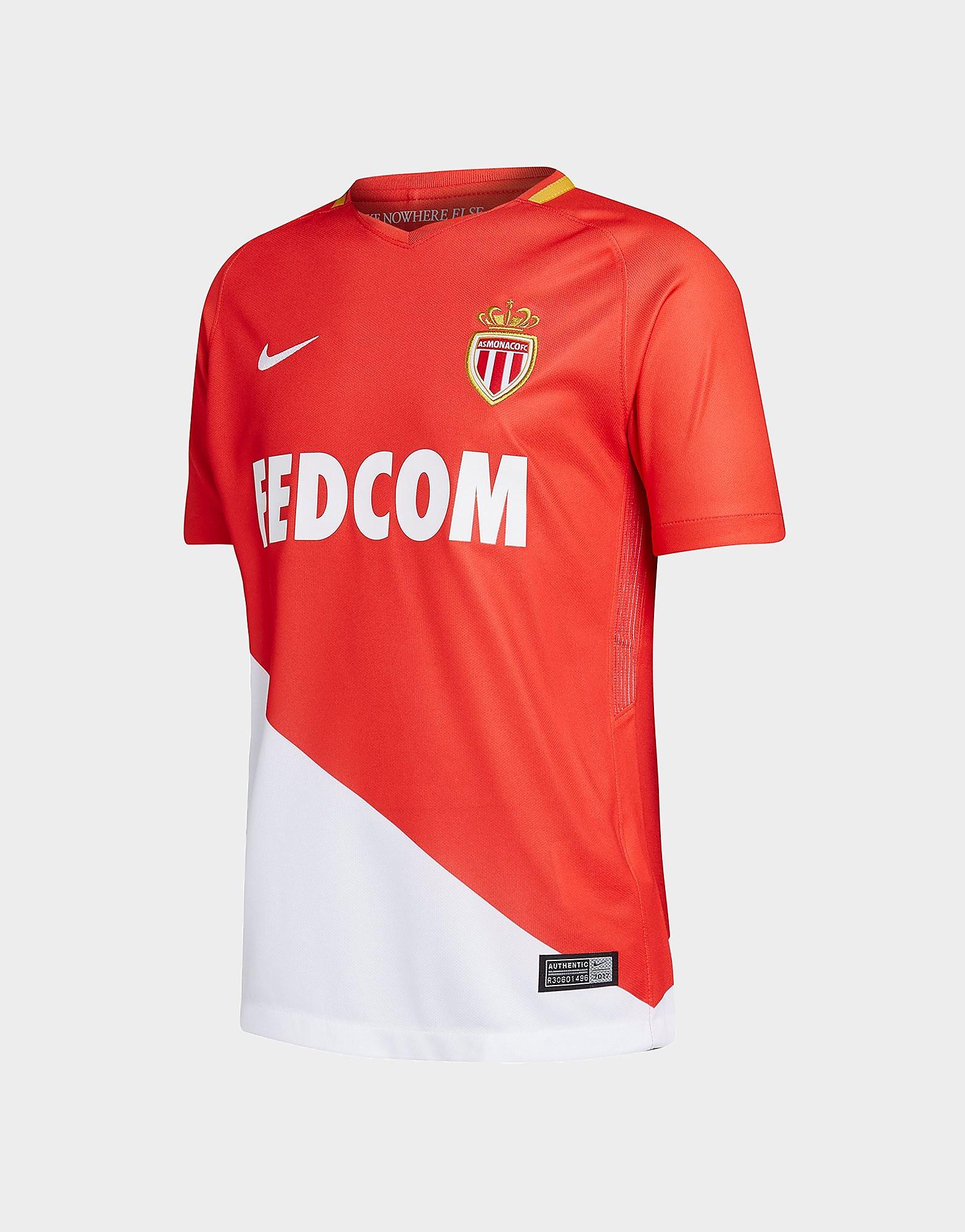 Nike AS Monaco 2017/18 Home Shirt Junior