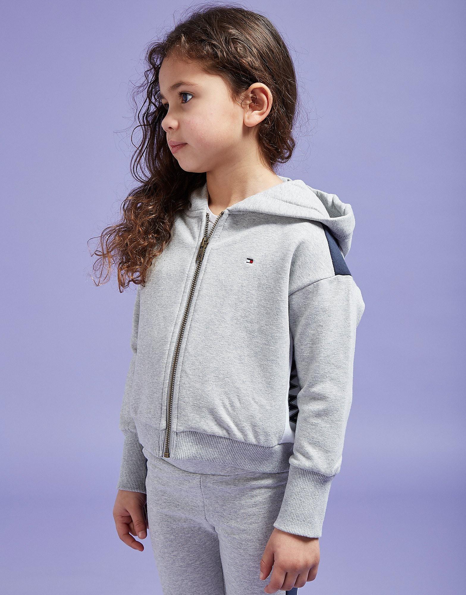 Tommy Hilfiger Girls' Logo Crop Full Zip Hoodie Children