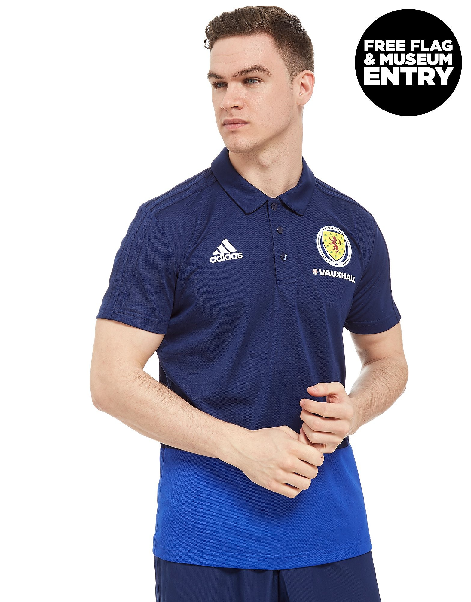 adidas Scotland FA 2018 Polo Shirt - Navy, Navy