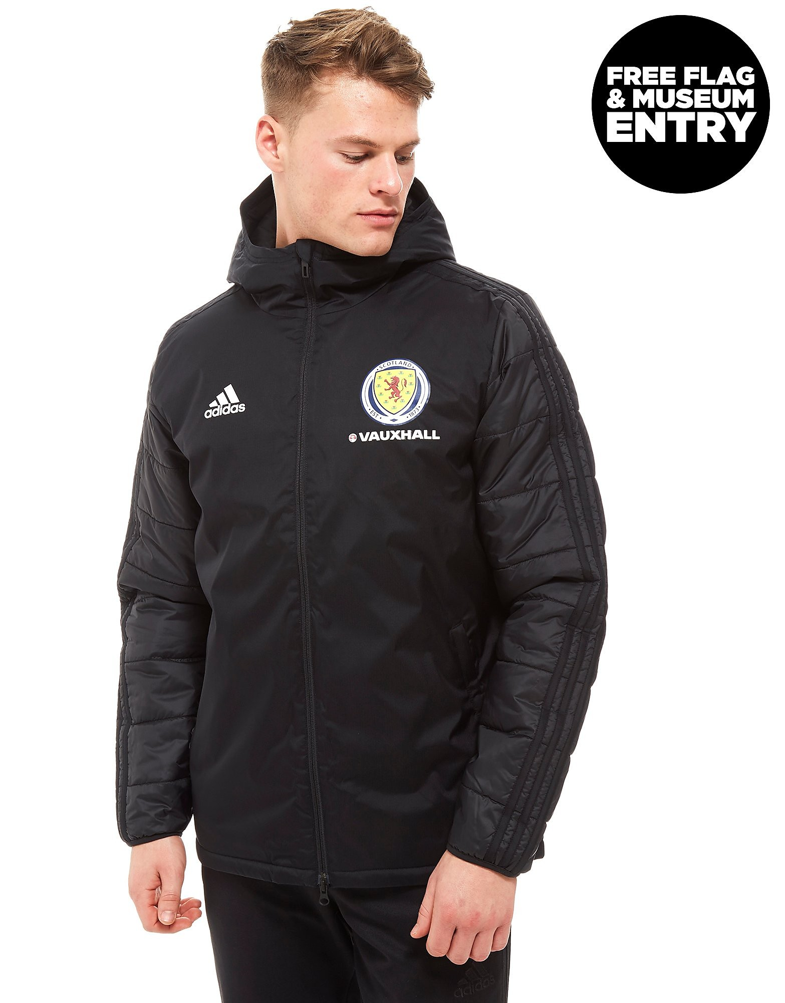 adidas Scotland FA 2018 19 Winter Jacket - Schwarz - Mens, Schwarz 1c9fb3e238
