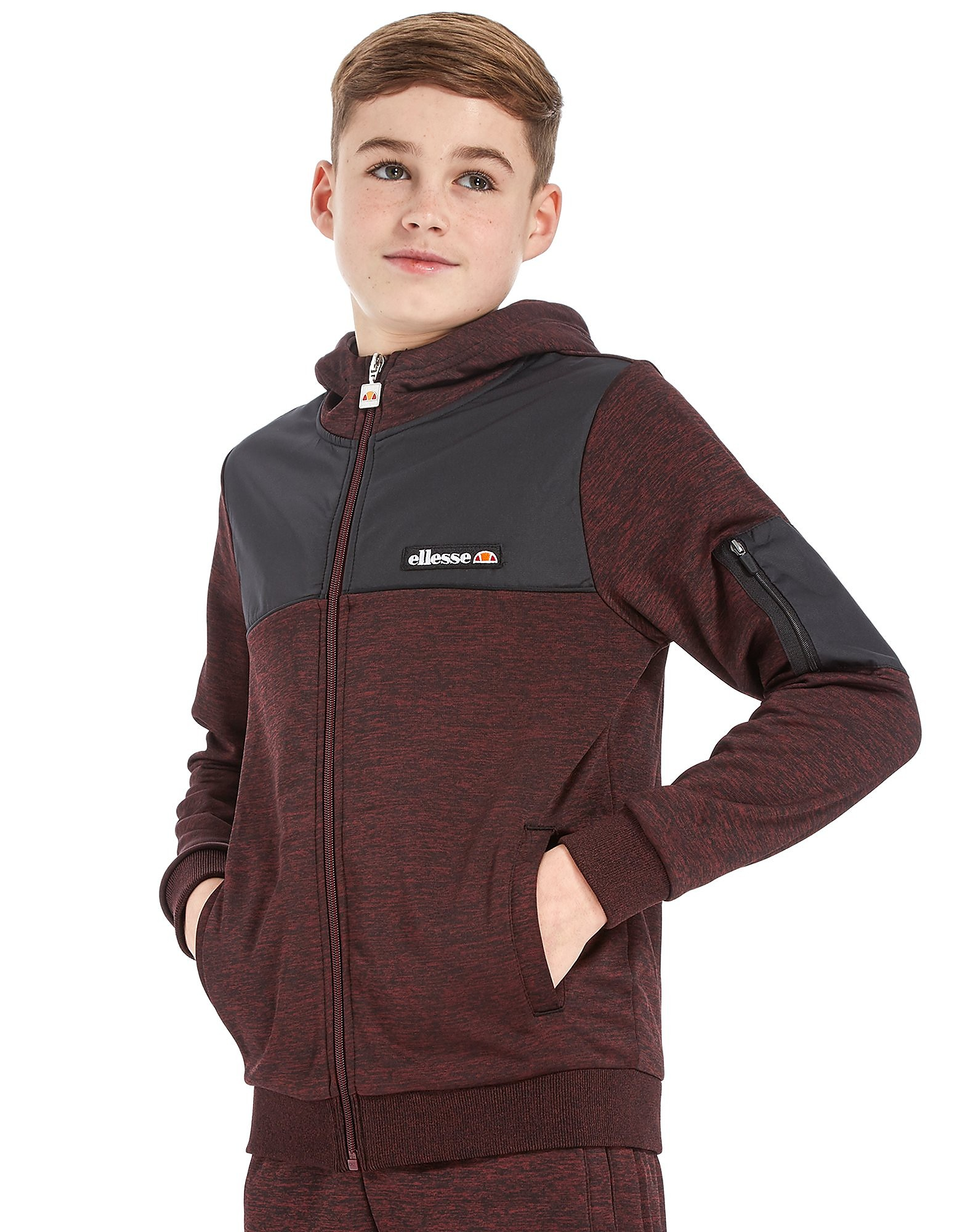 Ellesse Poly Full Zip Hoodie Junior