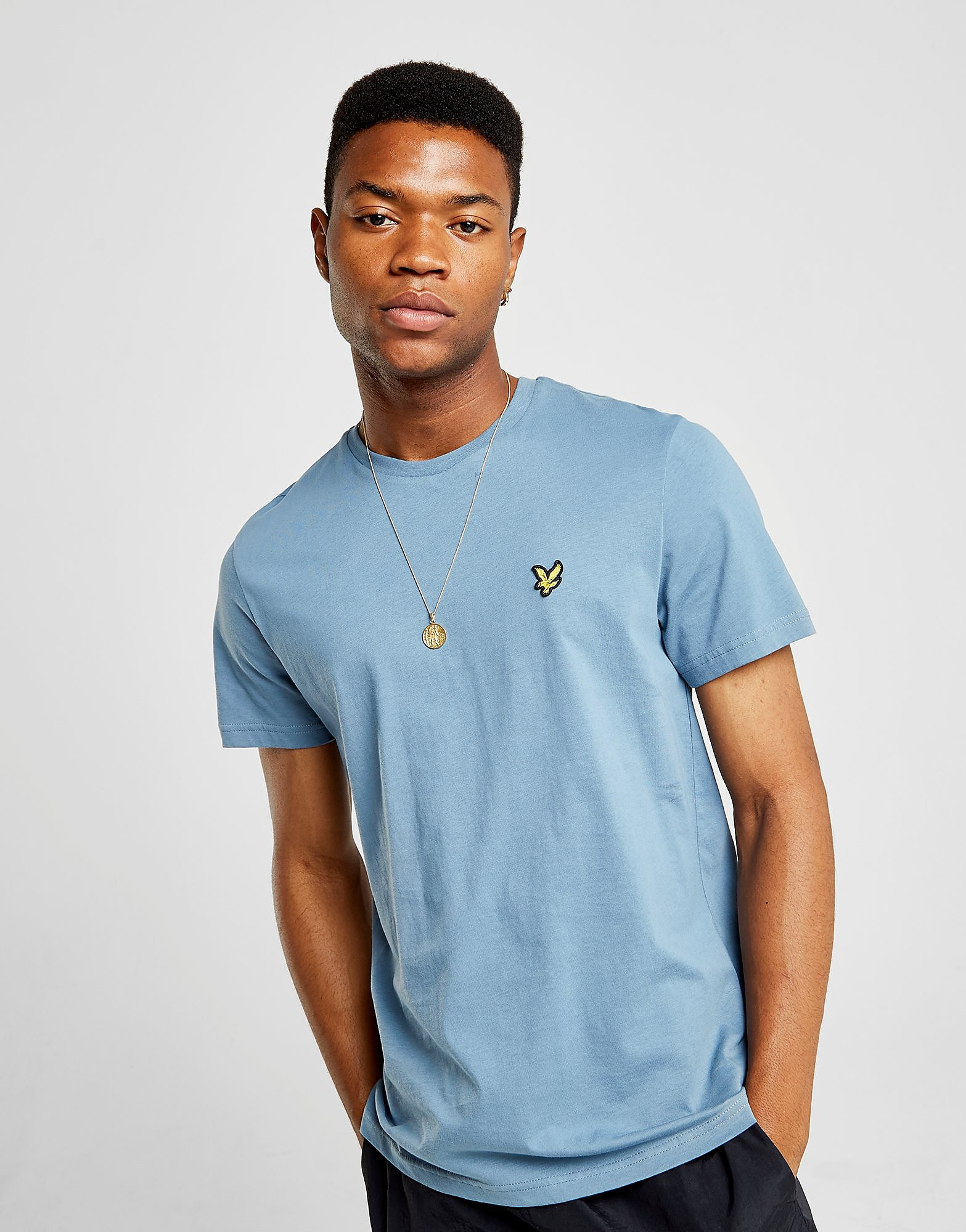 Lyle & Scott Crew Neck Kurzärmeliges T-Shirt Blau