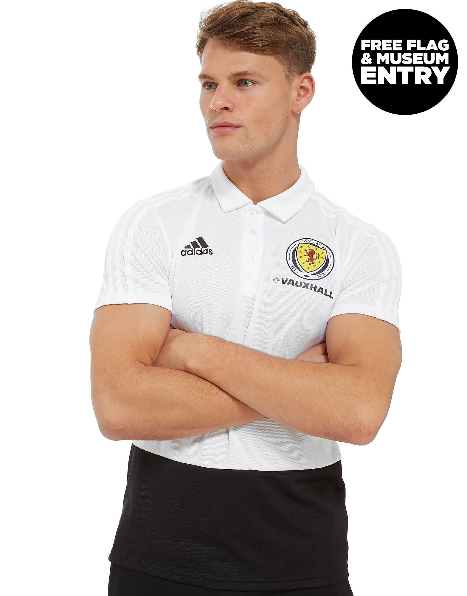adidas Scotland FA 2018 Polo Shirt Heren