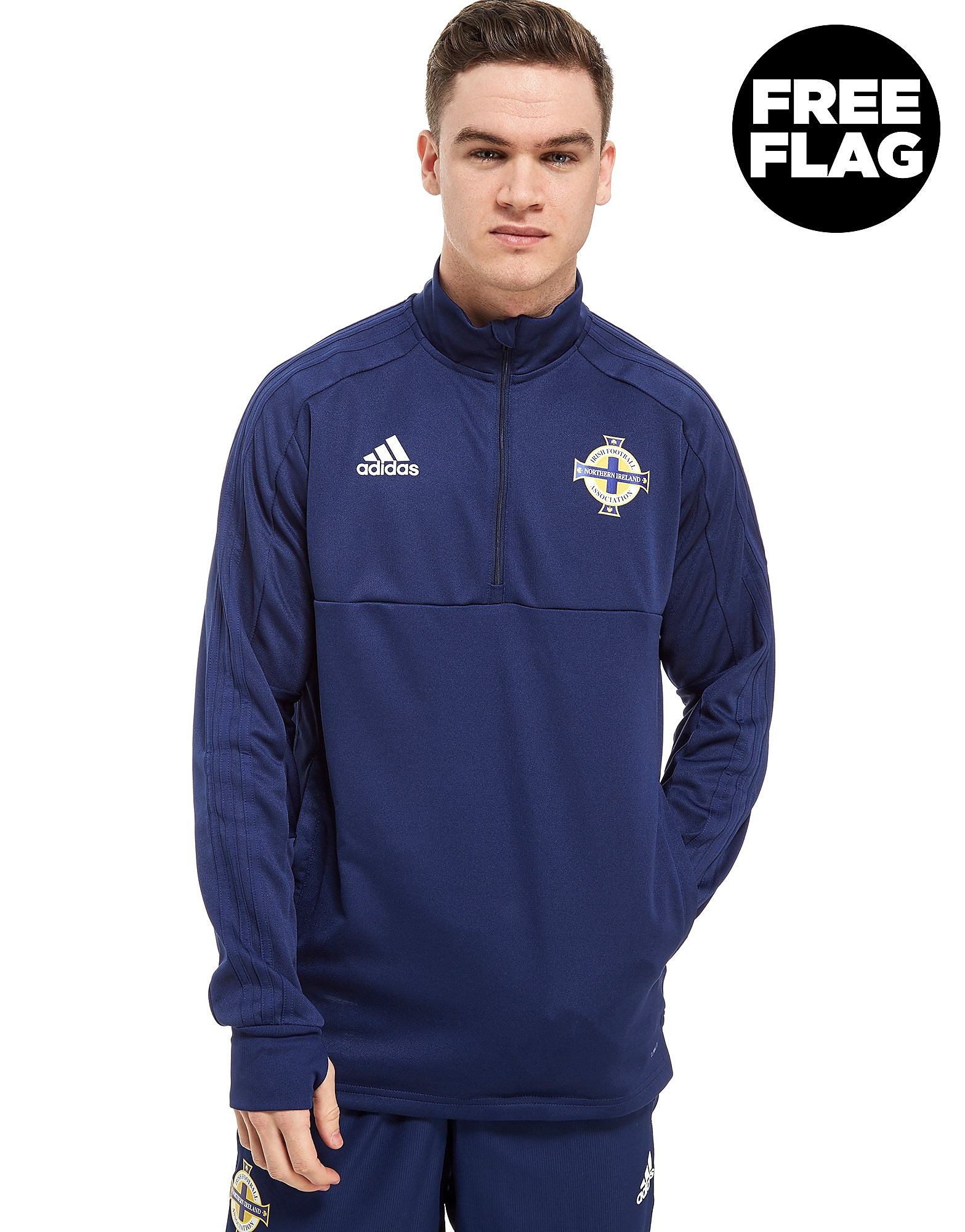 adidas Northern Ireland FA 2018 Half Zip Top Heren
