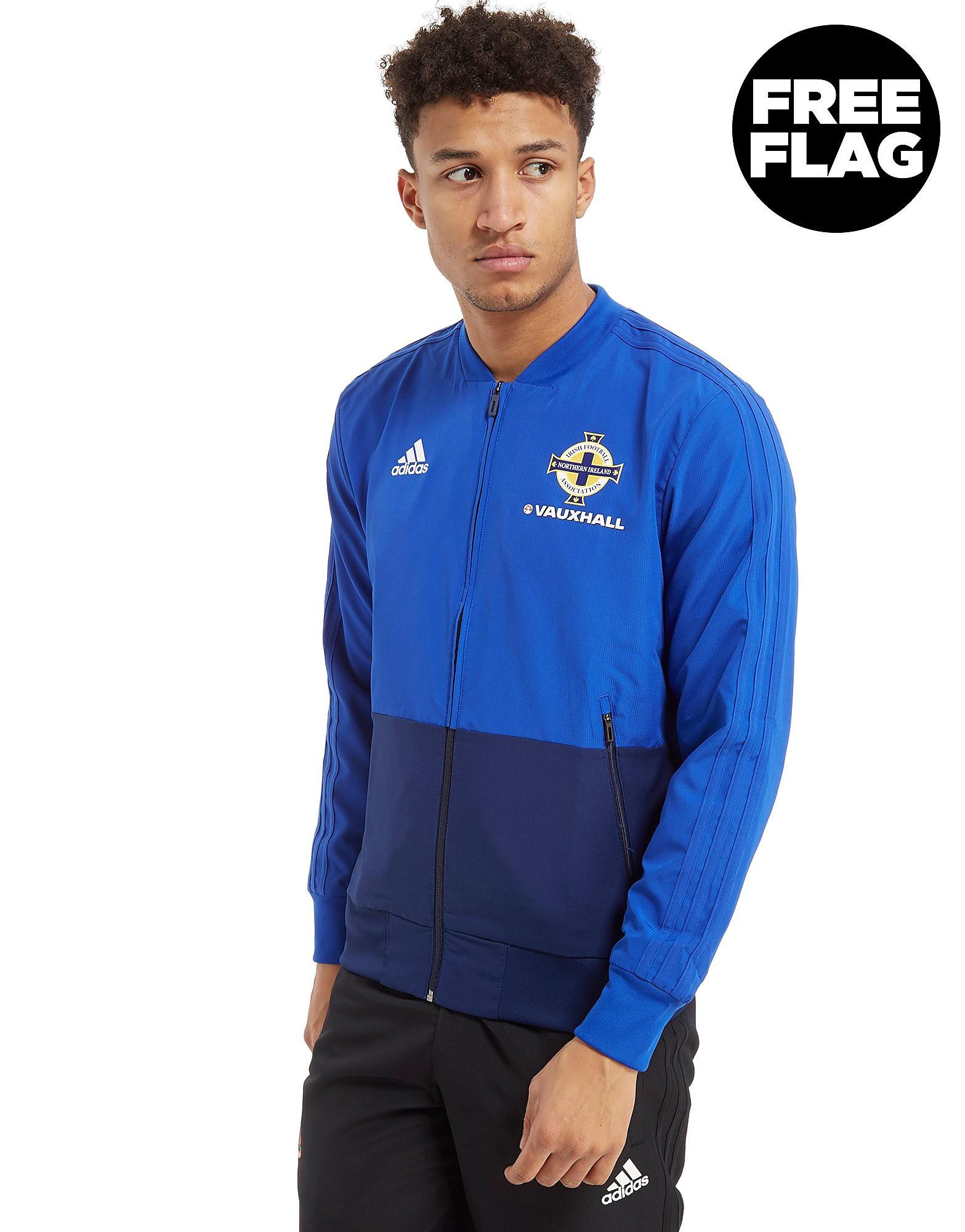 adidas Northern Ireland FA 2018 Presentation Jacket Heren - Blauw - Heren