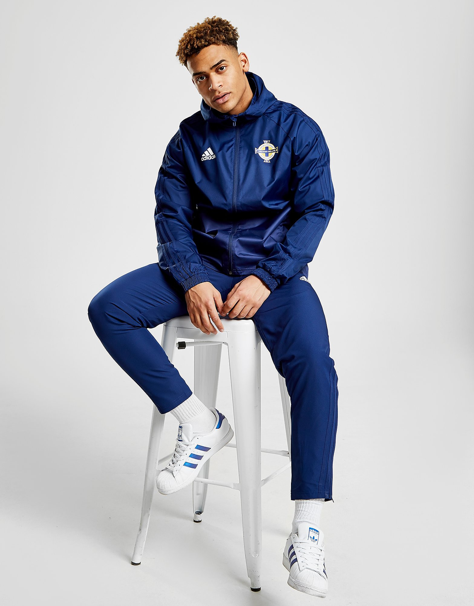 adidas Northern Ireland 2018/19 Rain Jacket - Blauw - Heren