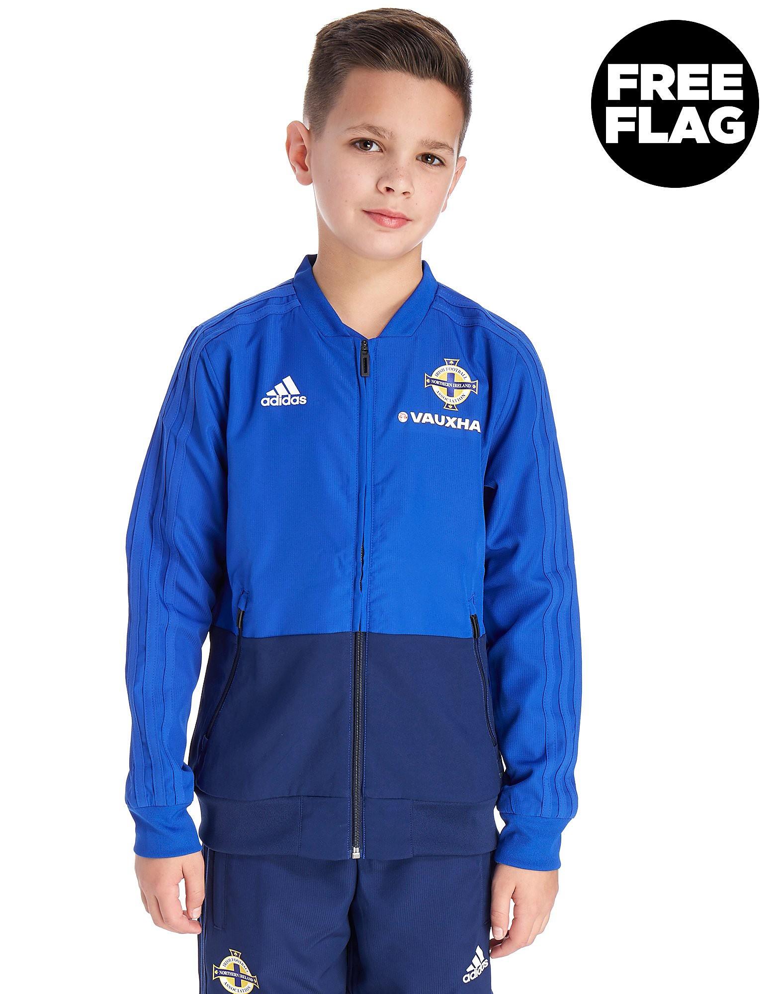 adidas Northern Ireland FA 2018 Presentation Jacket Junior - Blauw - Kind