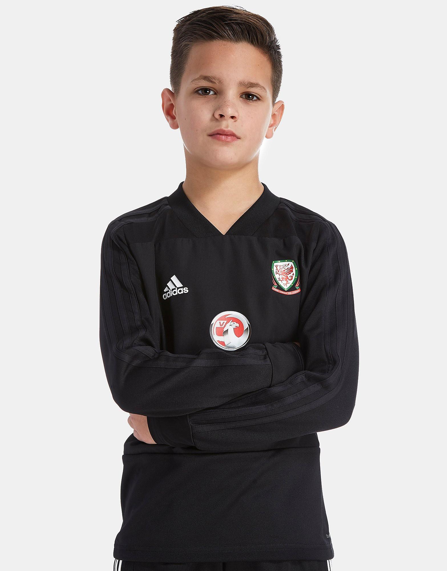 adidas FA Wales 2018 Training Top Junior - Zwart - Kind