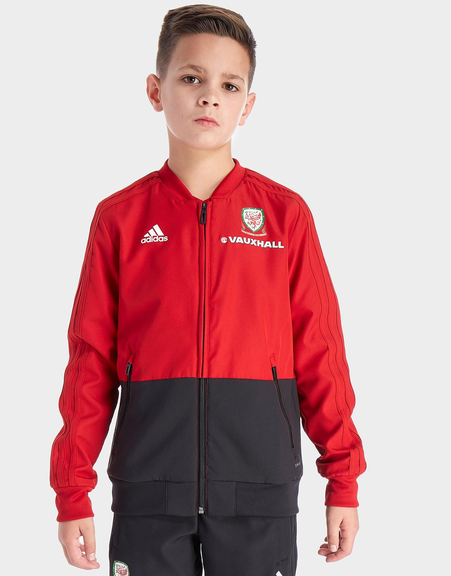 adidas FA Wales 2018 Presentation Jacket Junior - Rood - Kind