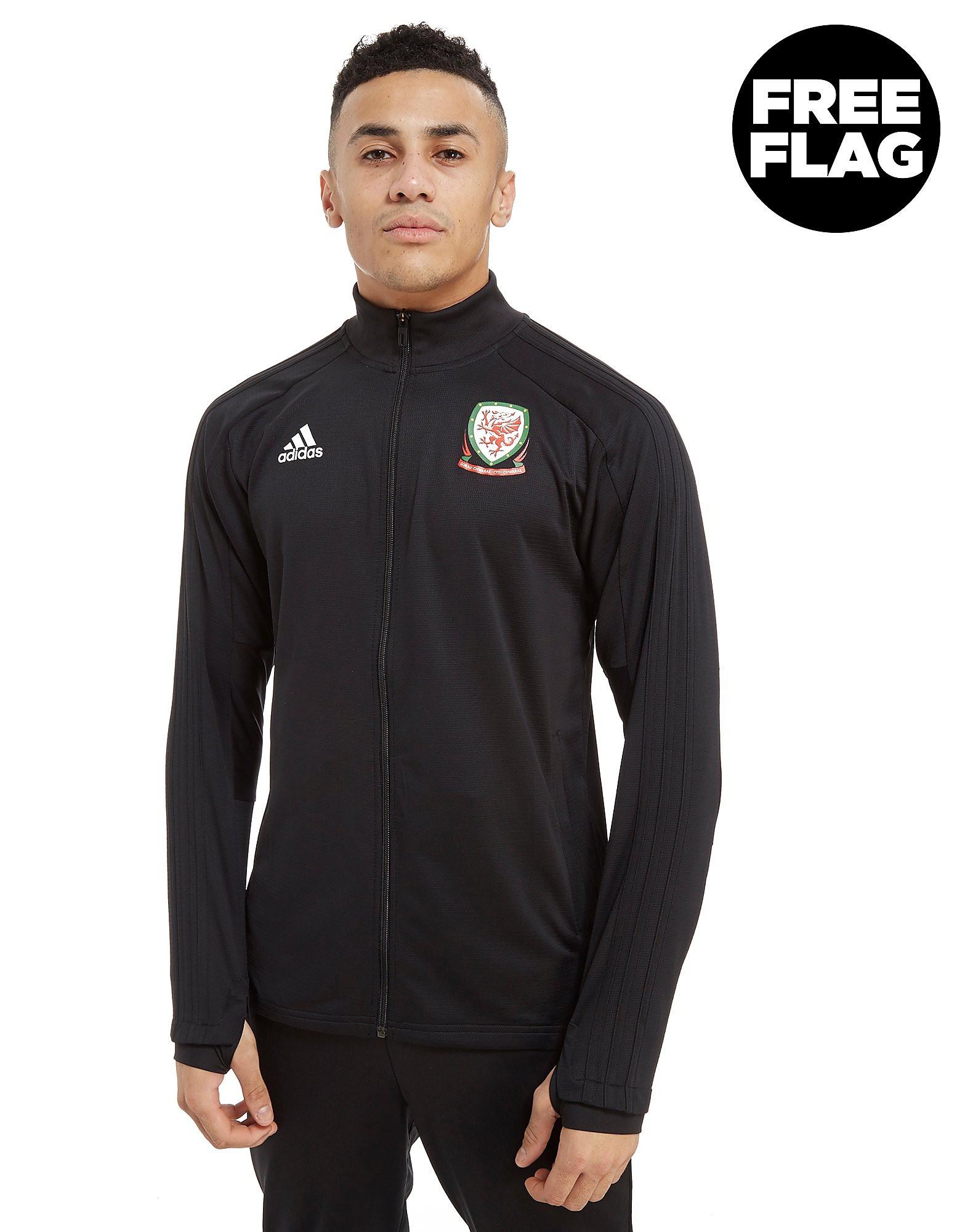 adidas FA Wales 2018 Full Zip Track Top Heren - Zwart - Heren