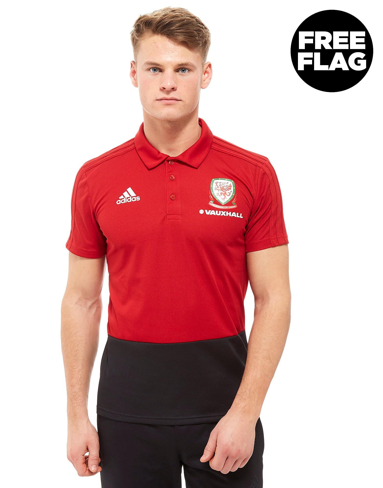 adidas FA Wales 2018 Polo Shirt Heren - Rood - Heren