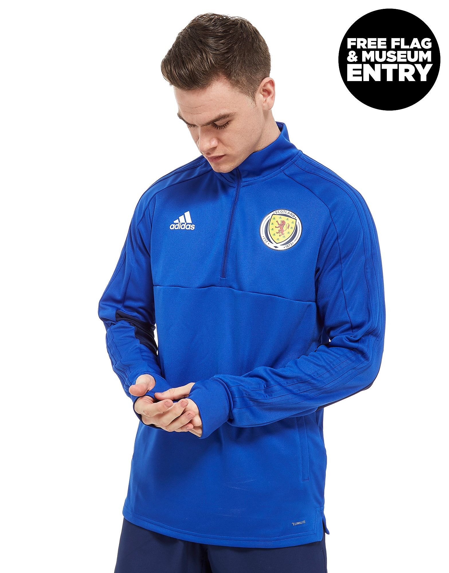adidas Scotland FA 2018 Half Zip Top Heren