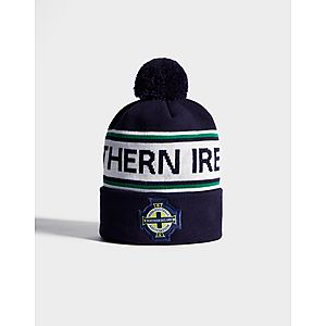 df6a68b1b12ee ... Official Team Northern Ireland Text Knitted Bobble Hat