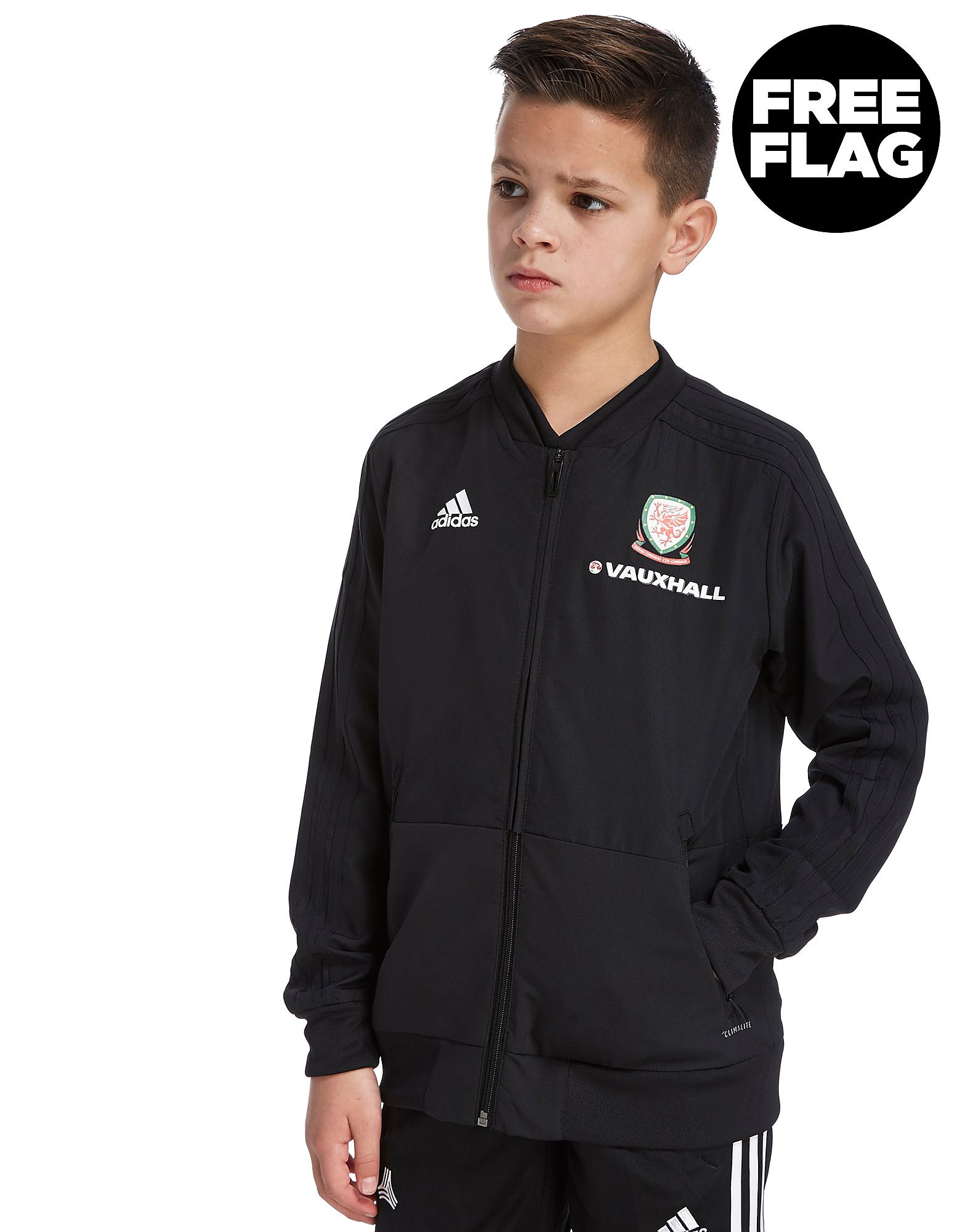 adidas FA Wales 2018 Presentation Jacket Junior