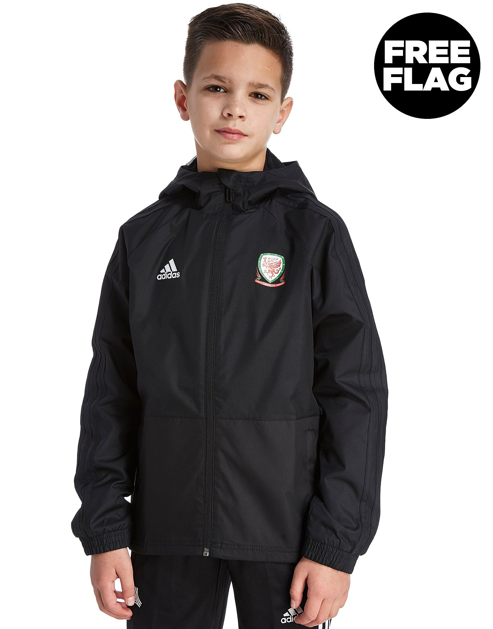 adidas FA Wales 2018 Rain Jacket Junior