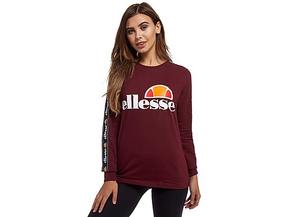ellesse tape long sleeve t shirt red womens bluewater. Black Bedroom Furniture Sets. Home Design Ideas